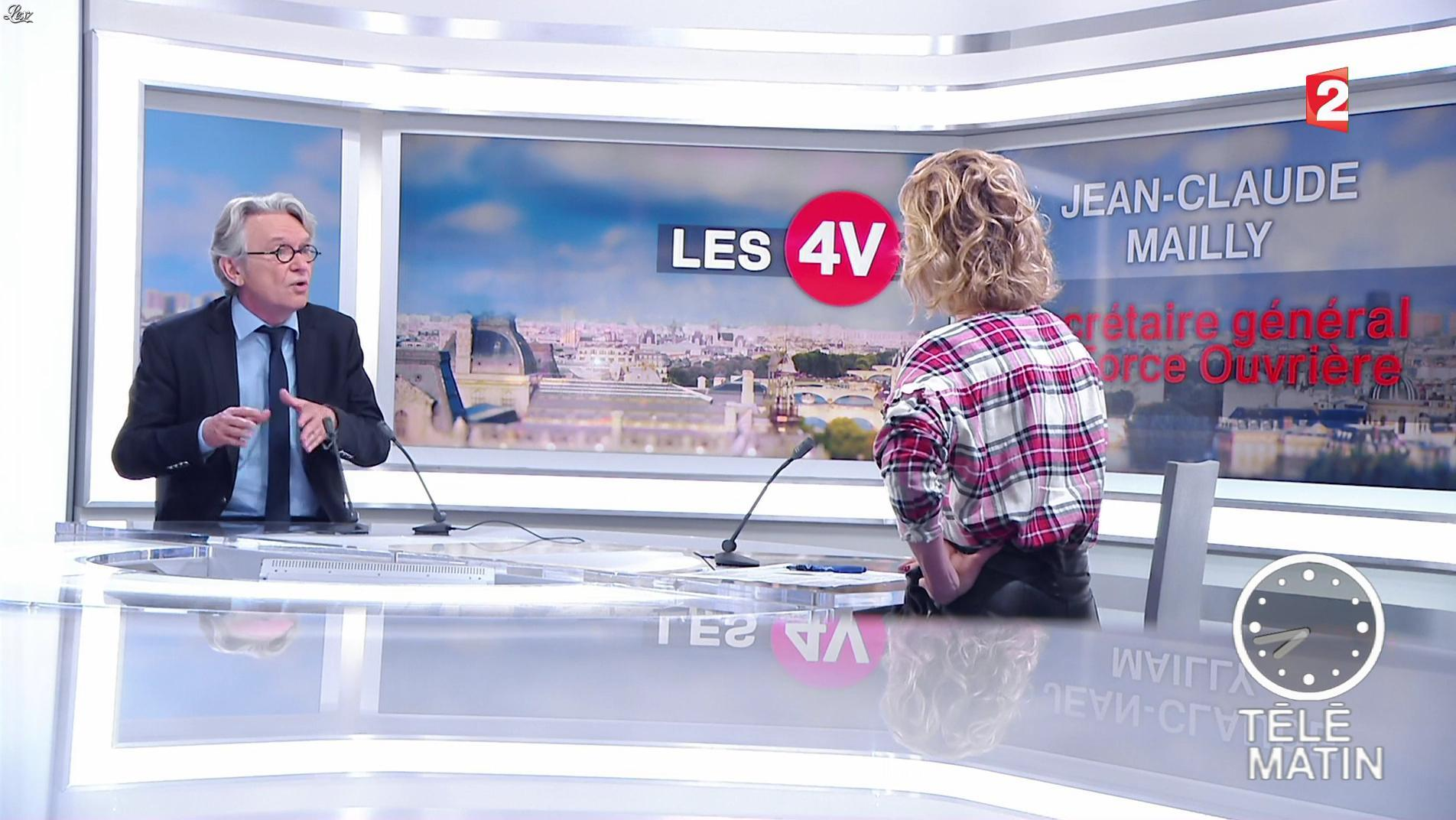 Caroline Roux dans les 4 Vérités. Diffusé à la télévision le 18/05/17.