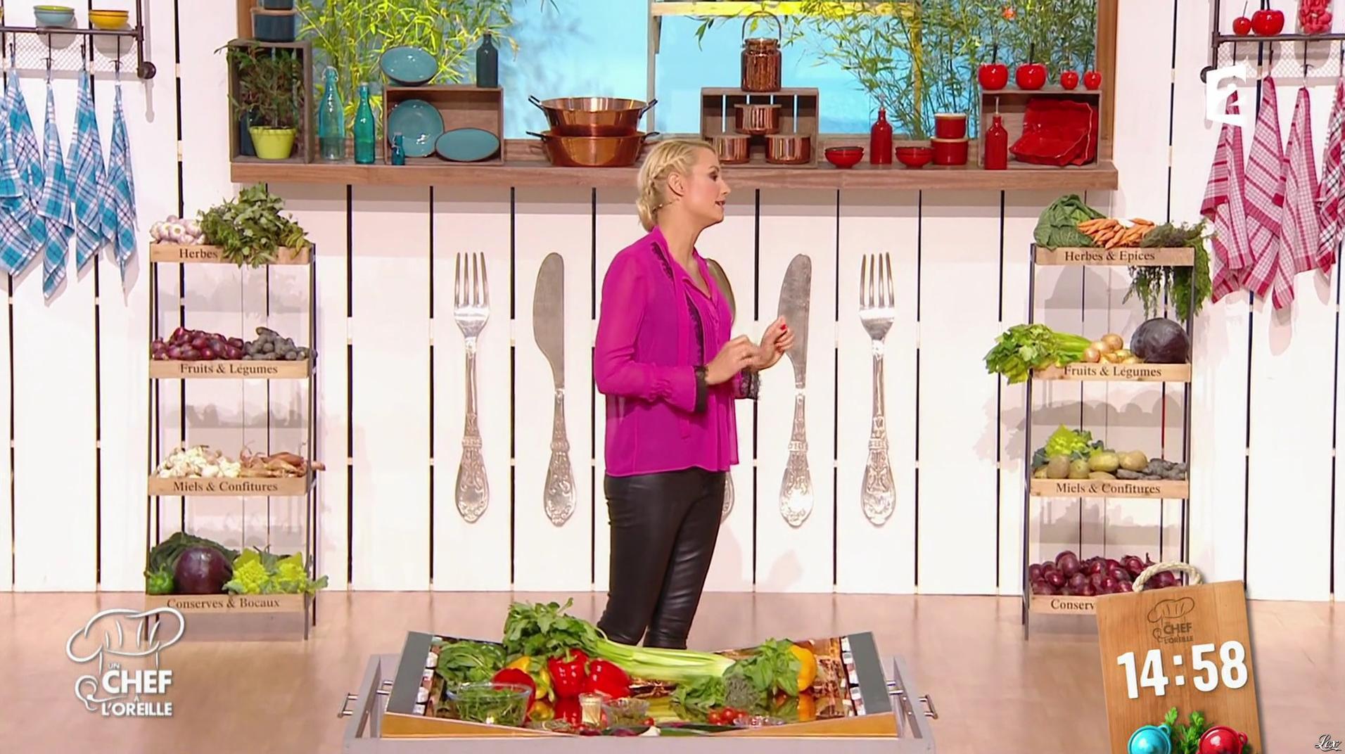 Elodie Gossuin dans un Chef à l'Oreille. Diffusé à la télévision le 24/02/17.