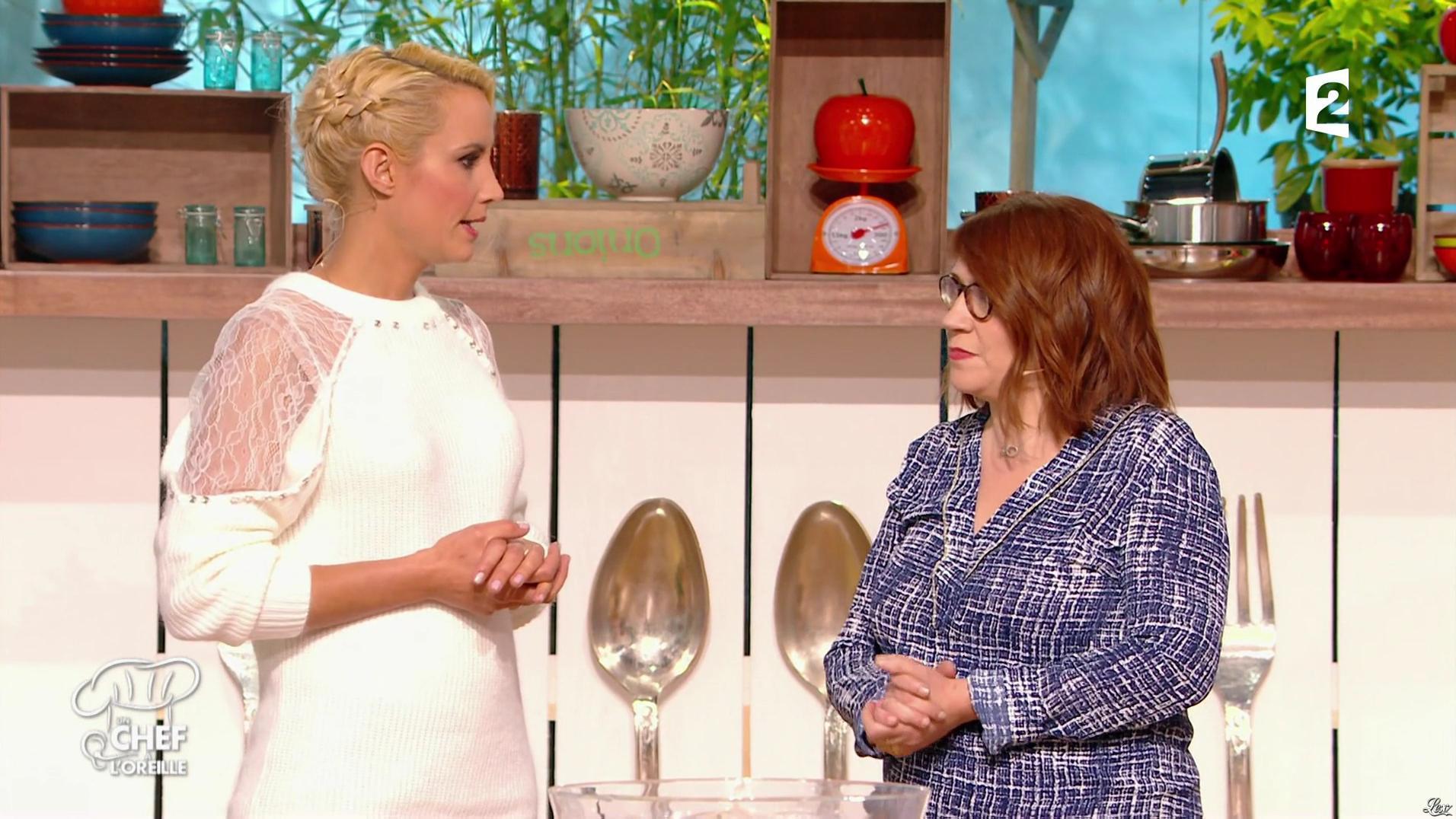 Elodie Gossuin dans un Chef à l'Oreille. Diffusé à la télévision le 27/01/17.