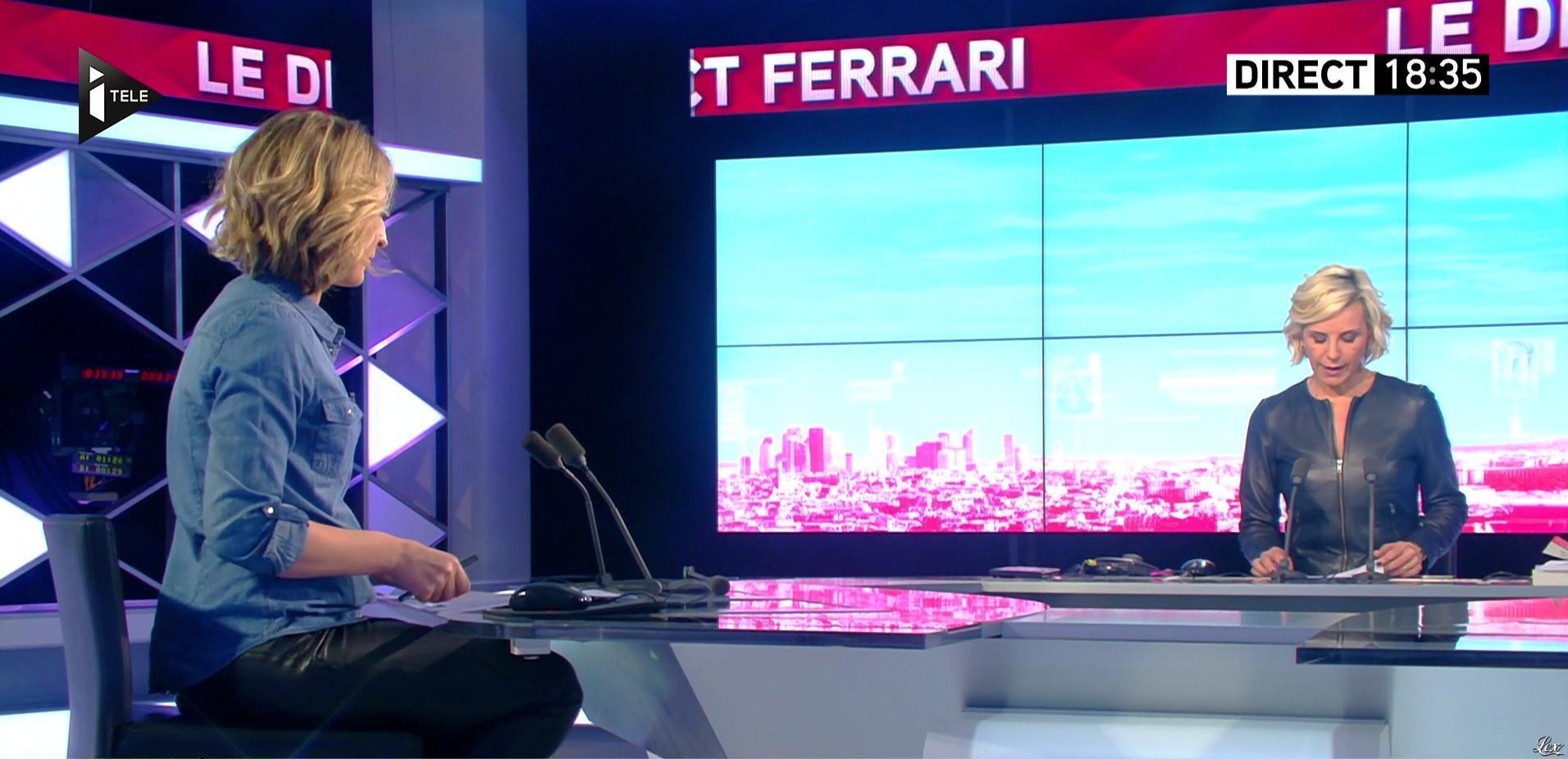 Laurence Ferrari et Caroline Delage dans le Direct Ferrari. Diffusé à la télévision le 01/02/17.