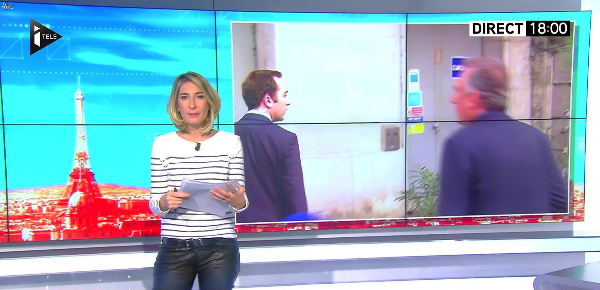 Laurence Ferrari et Caroline Delage dans le Direct Ferrari. Diffusé à la télévision le 23/02/17.