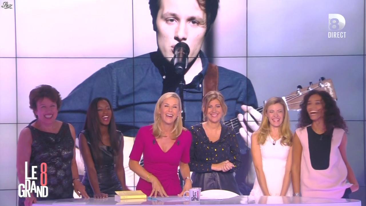 Laurence Ferrari, Hapsatou Sy, Aïda Touihri et Amanda Sthers dans le Grand 8. Diffusé à la télévision le 31/08/15.