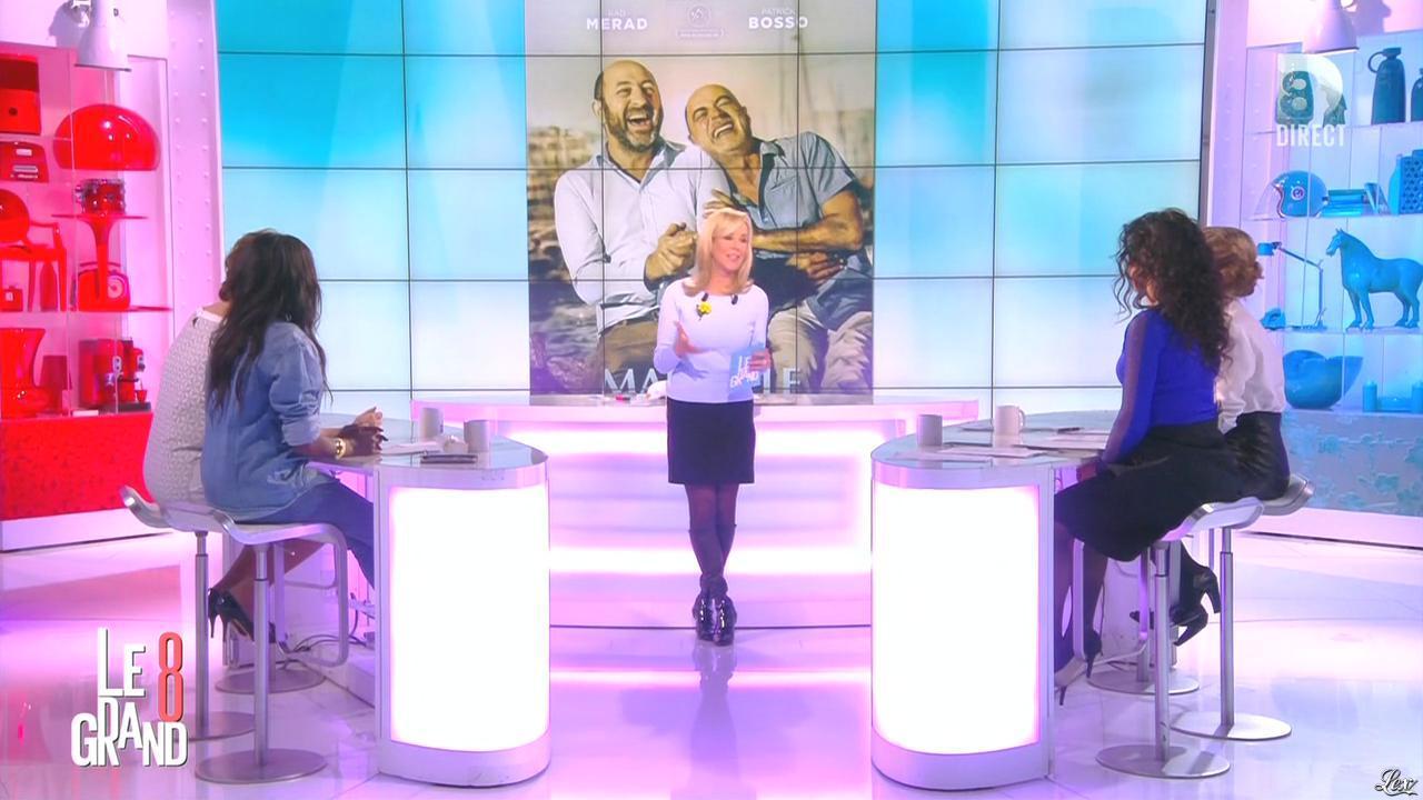 Laurence Ferrari, Hapsatou Sy, Aïda Touihri et Elisabeth Bost dans le Grand 8. Diffusé à la télévision le 15/03/16.