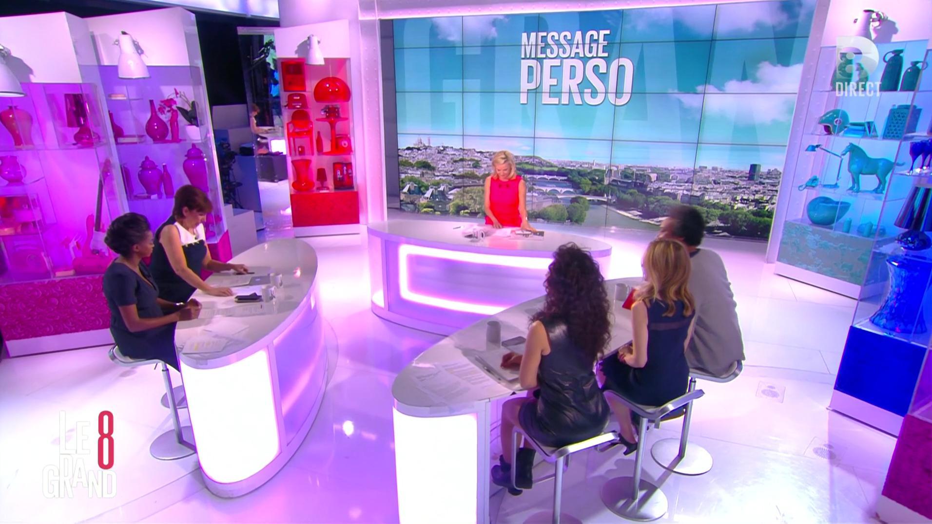 Laurence Ferrari, Hapsatou Sy, Aïda Touihri et Elisabeth Bost dans le Grand 8. Diffusé à la télévision le 20/04/16.