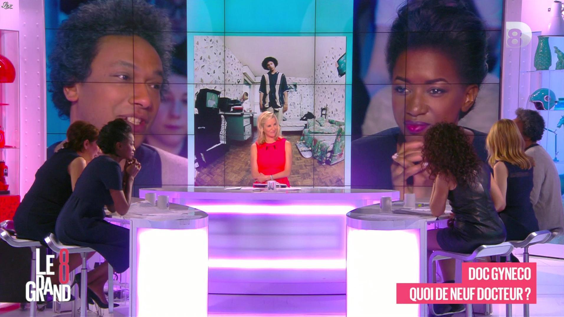 Laurence Ferrari, Hapsatou Sy, Aïda Touihri et Elisabeth Bost dans le Grand 8. Diffusé à la télévision le 22/04/16.