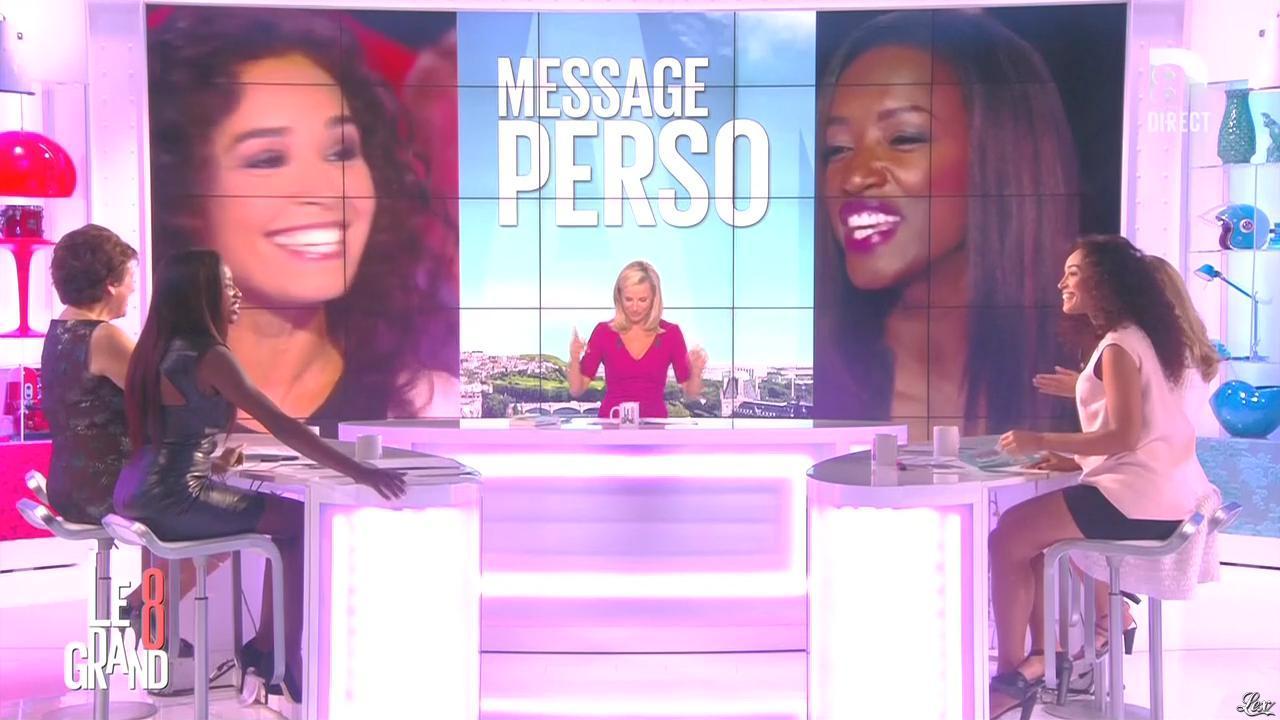 Laurence Ferrari, Hapsatou Sy et Aïda Touihri dans le Grand 8. Diffusé à la télévision le 31/08/15.