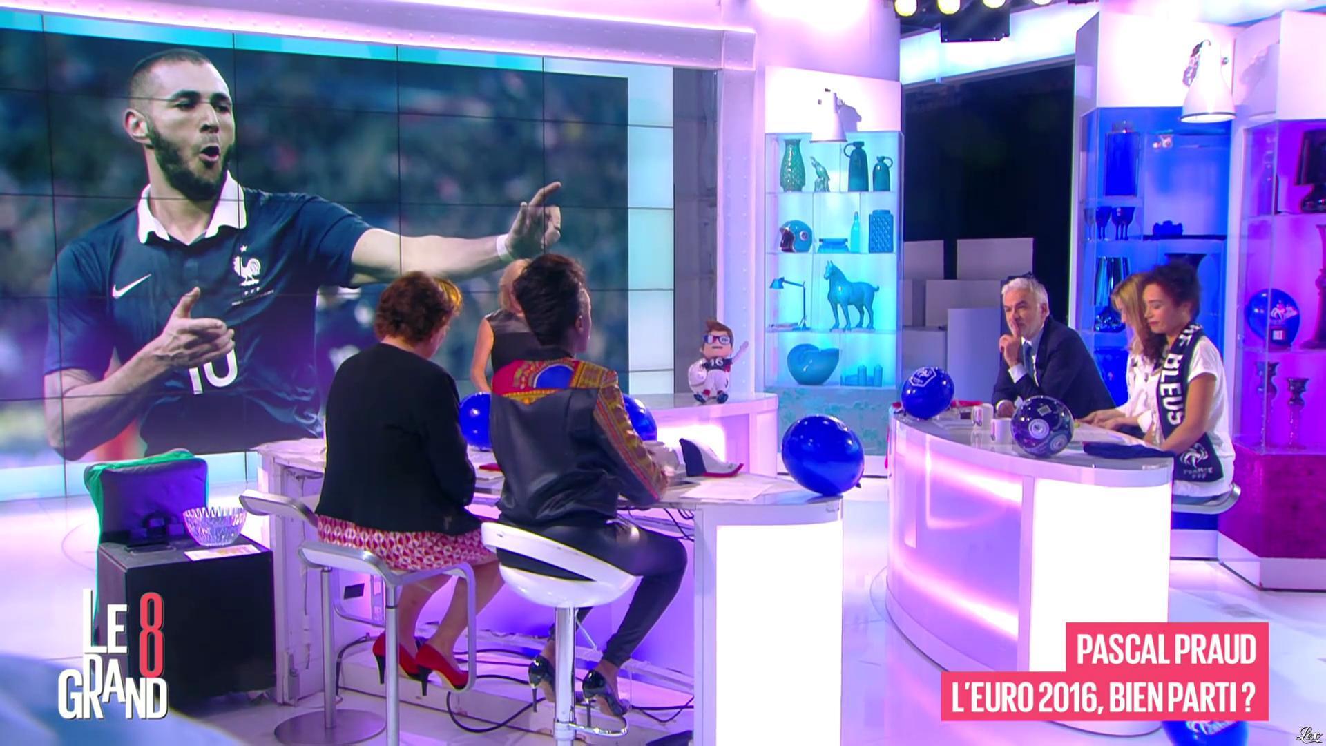Laurence Ferrari et Hapsatou Sy dans le Grand 8. Diffusé à la télévision le 14/06/16.