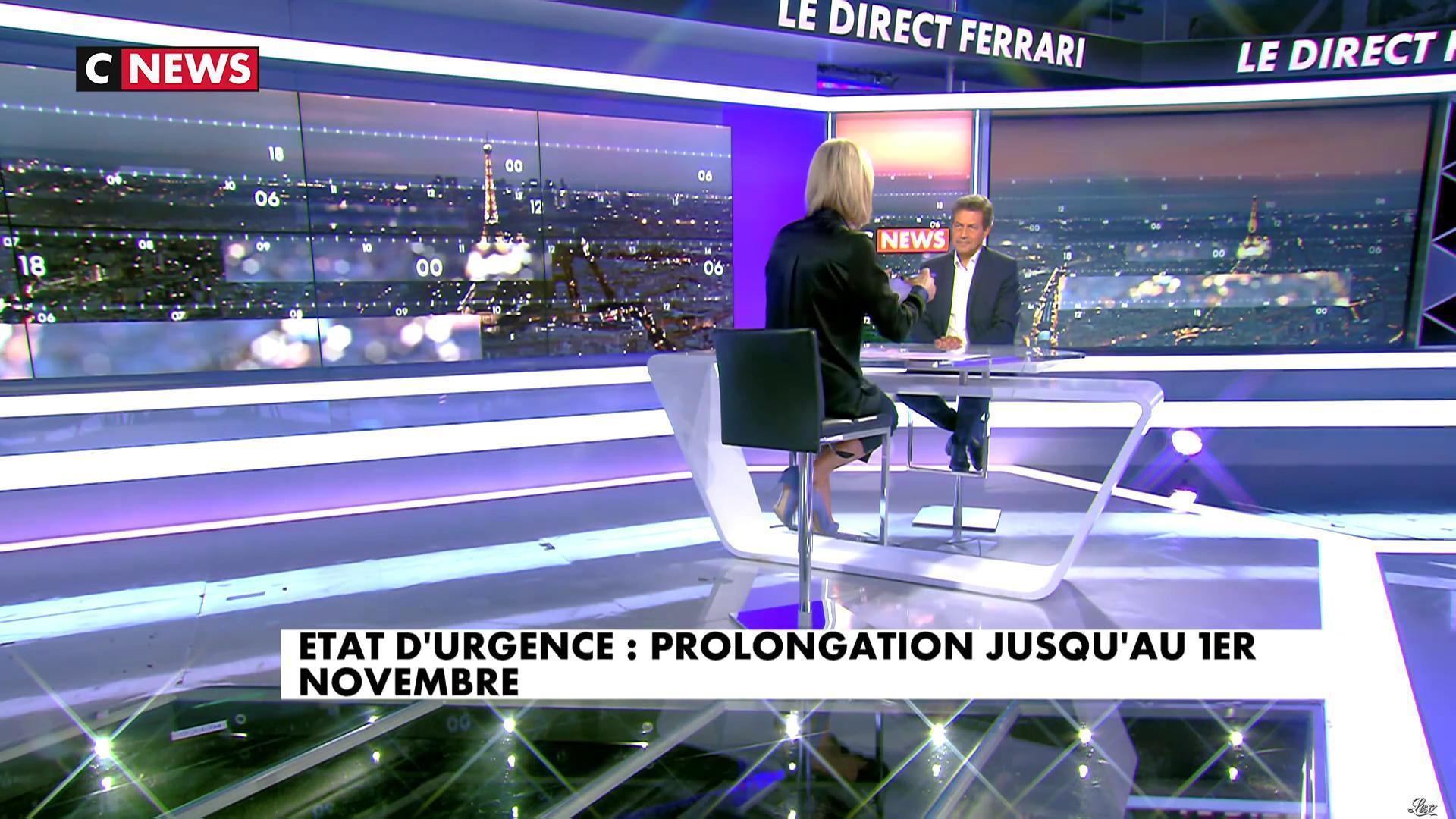 Laurence Ferrari dans le Direct Ferrari. Diffusé à la télévision le 06/07/17.