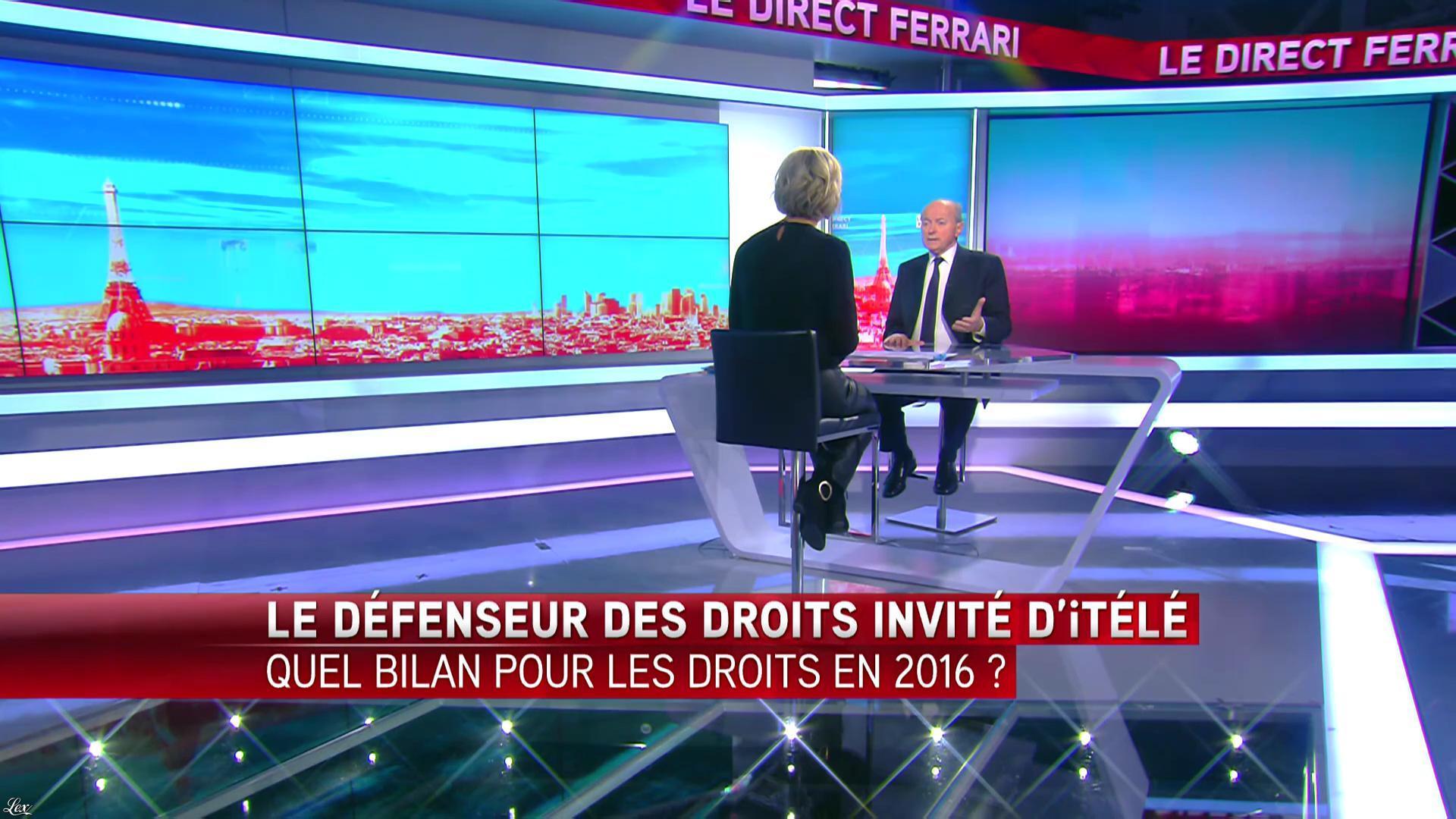Laurence Ferrari dans le Direct Ferrari. Diffusé à la télévision le 23/02/17.