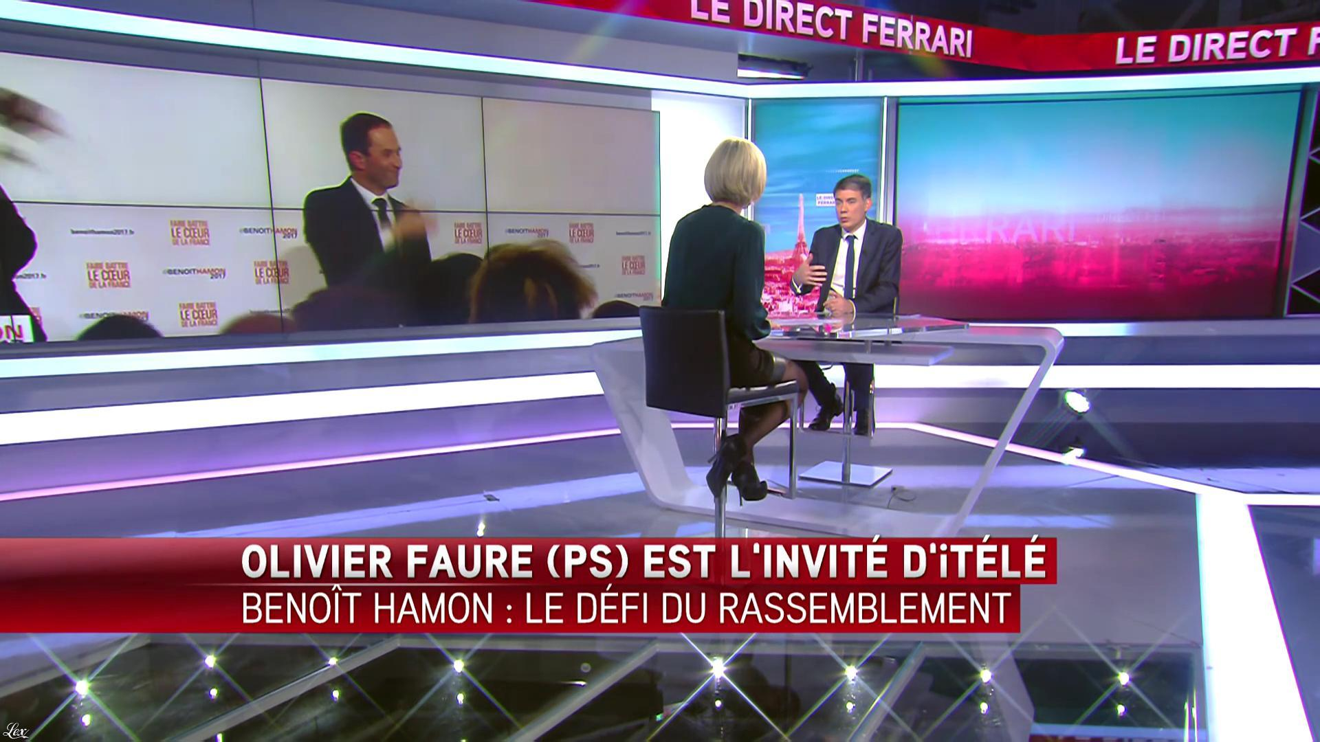Laurence Ferrari dans le Direct Ferrari. Diffusé à la télévision le 30/01/17.