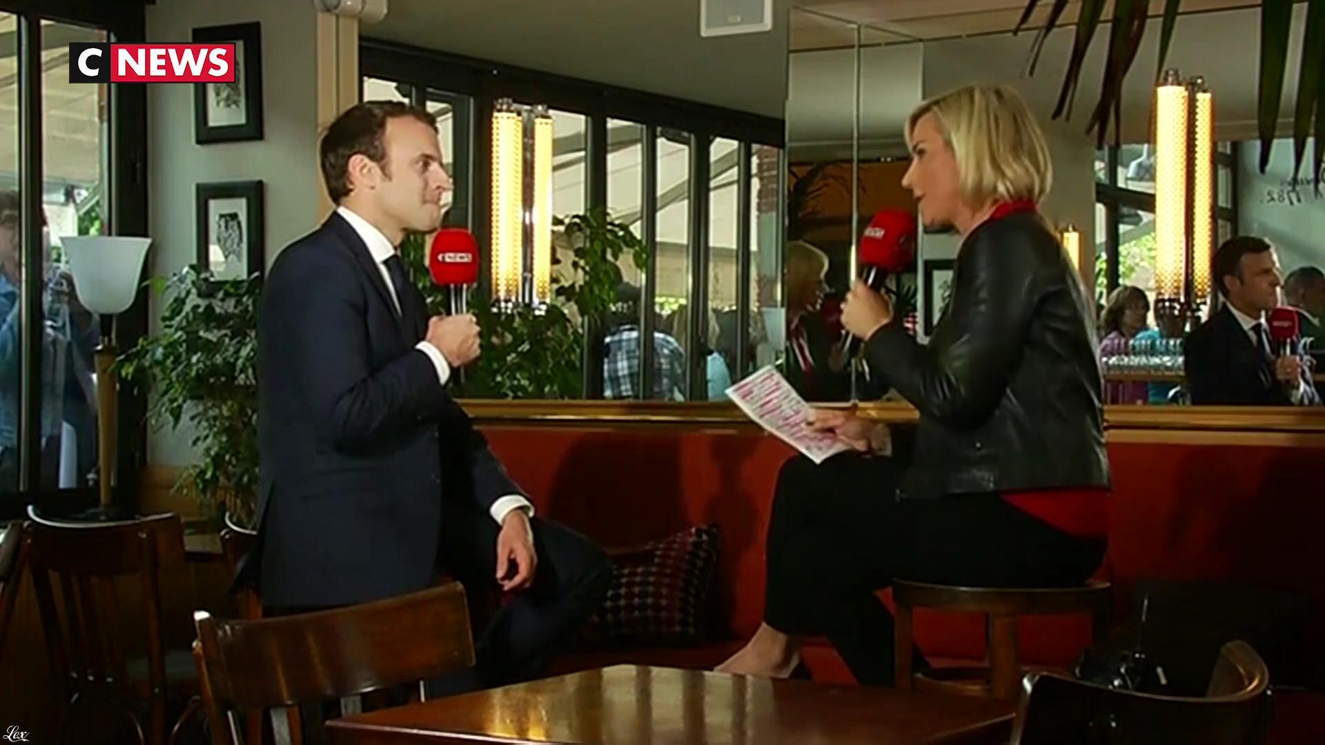Laurence Ferrari dans le Grand Journal de la Présidentielle. Diffusé à la télévision le 04/05/17.