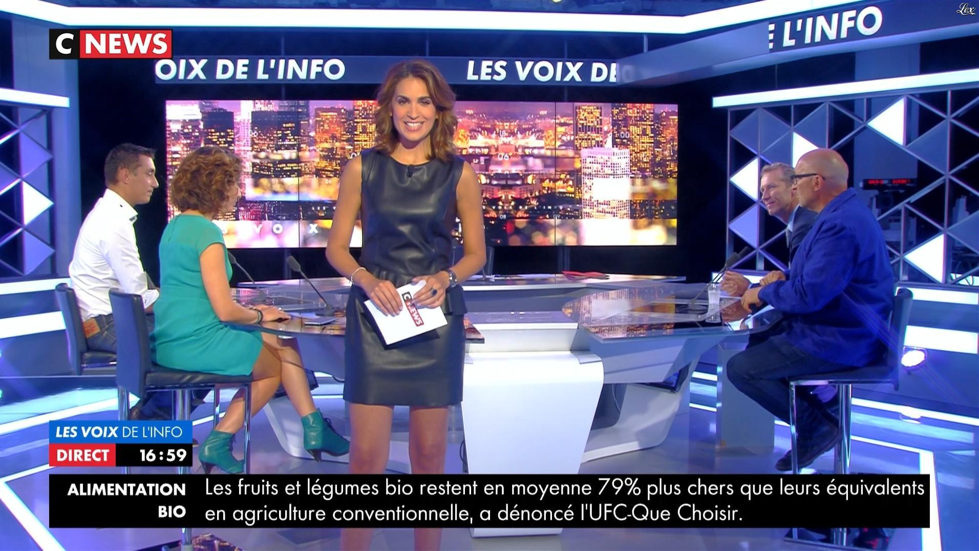 Sonia Mabrouk dans les Voix de l'Info. Diffusé à la télévision le 30/08/17.