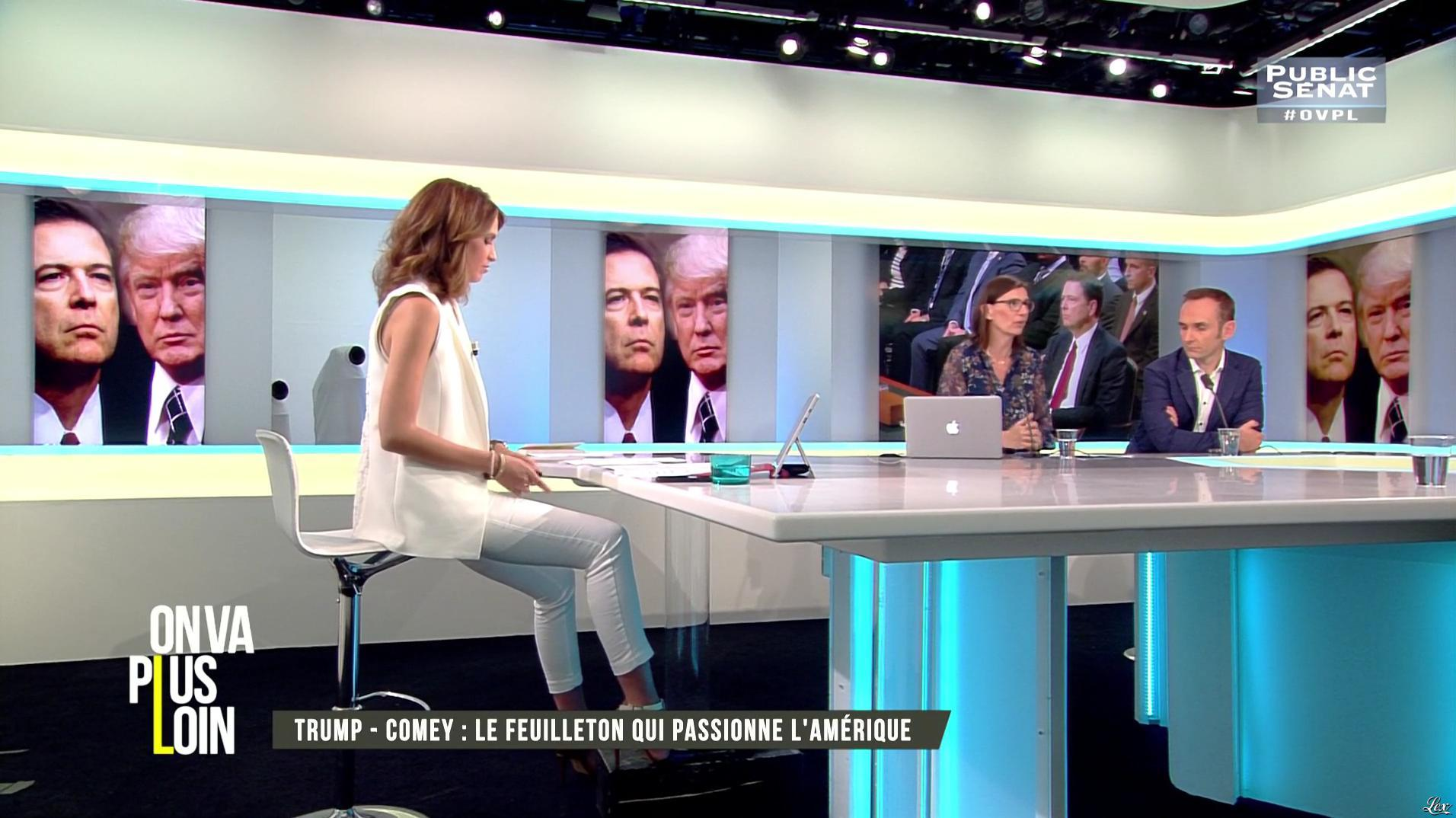 Sonia Mabrouk dans On Va Plus Loin. Diffusé à la télévision le 08/06/17.
