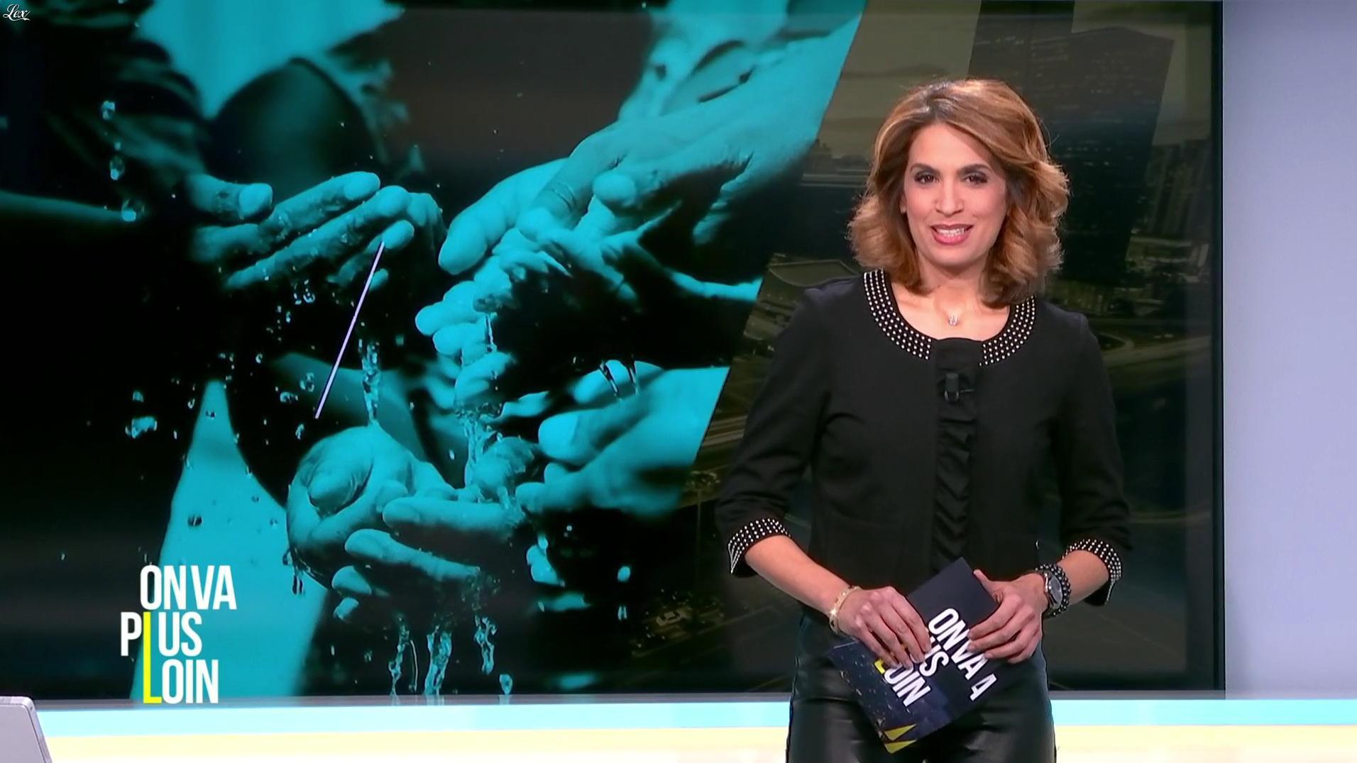 Sonia Mabrouk dans On Va Plus Loin. Diffusé à la télévision le 09/01/17.