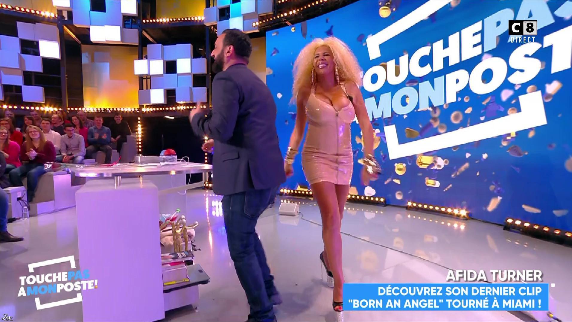 Afida Turner dans Touche pas à mon Poste. Diffusé à la télévision le 15/02/18.