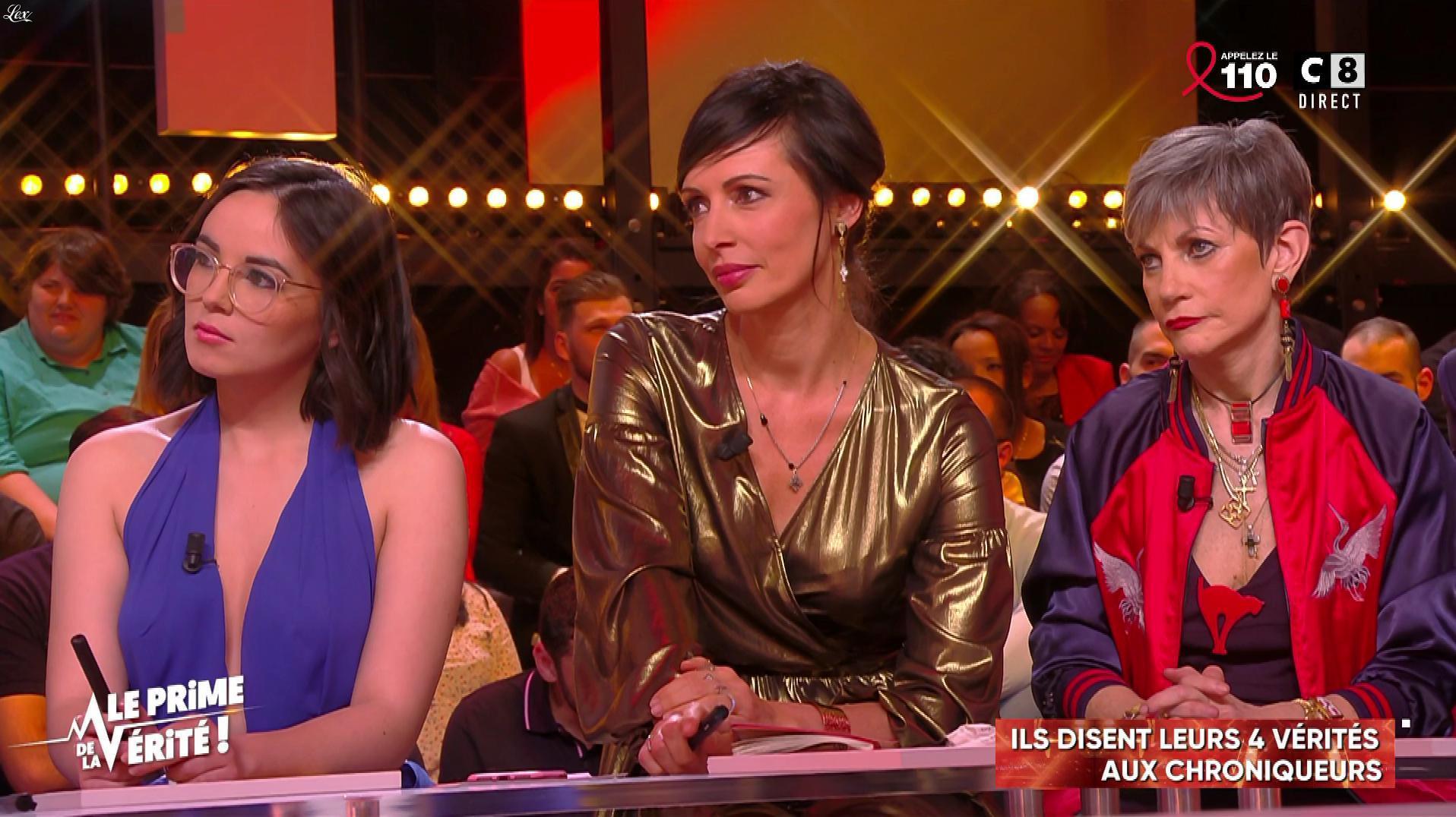 Agathe Auproux et Géraldine Millet dans le Prime de la Verite. Diffusé à la télévision le 22/03/18.