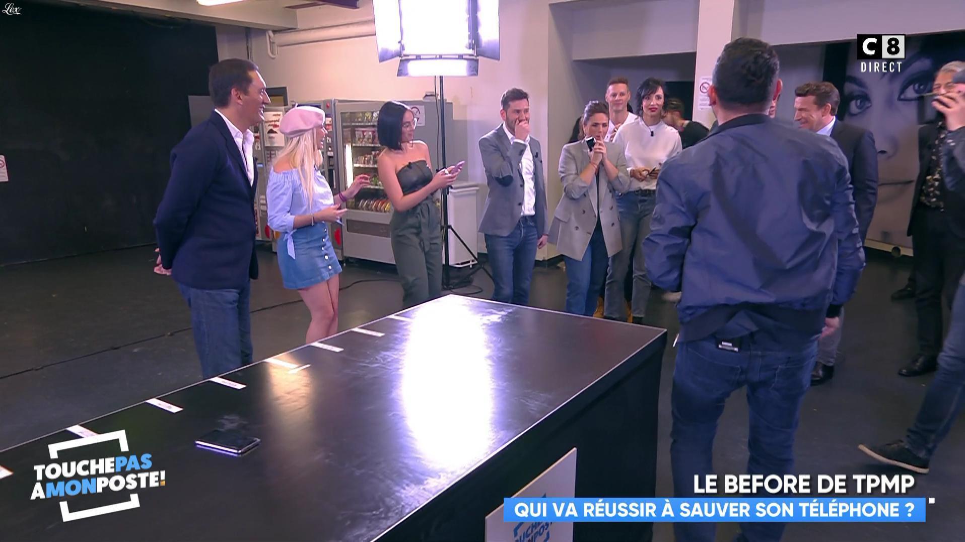 Agathe Auproux et Kelly Vedovelli dans Touche pas à mon Poste. Diffusé à la télévision le 06/02/18.