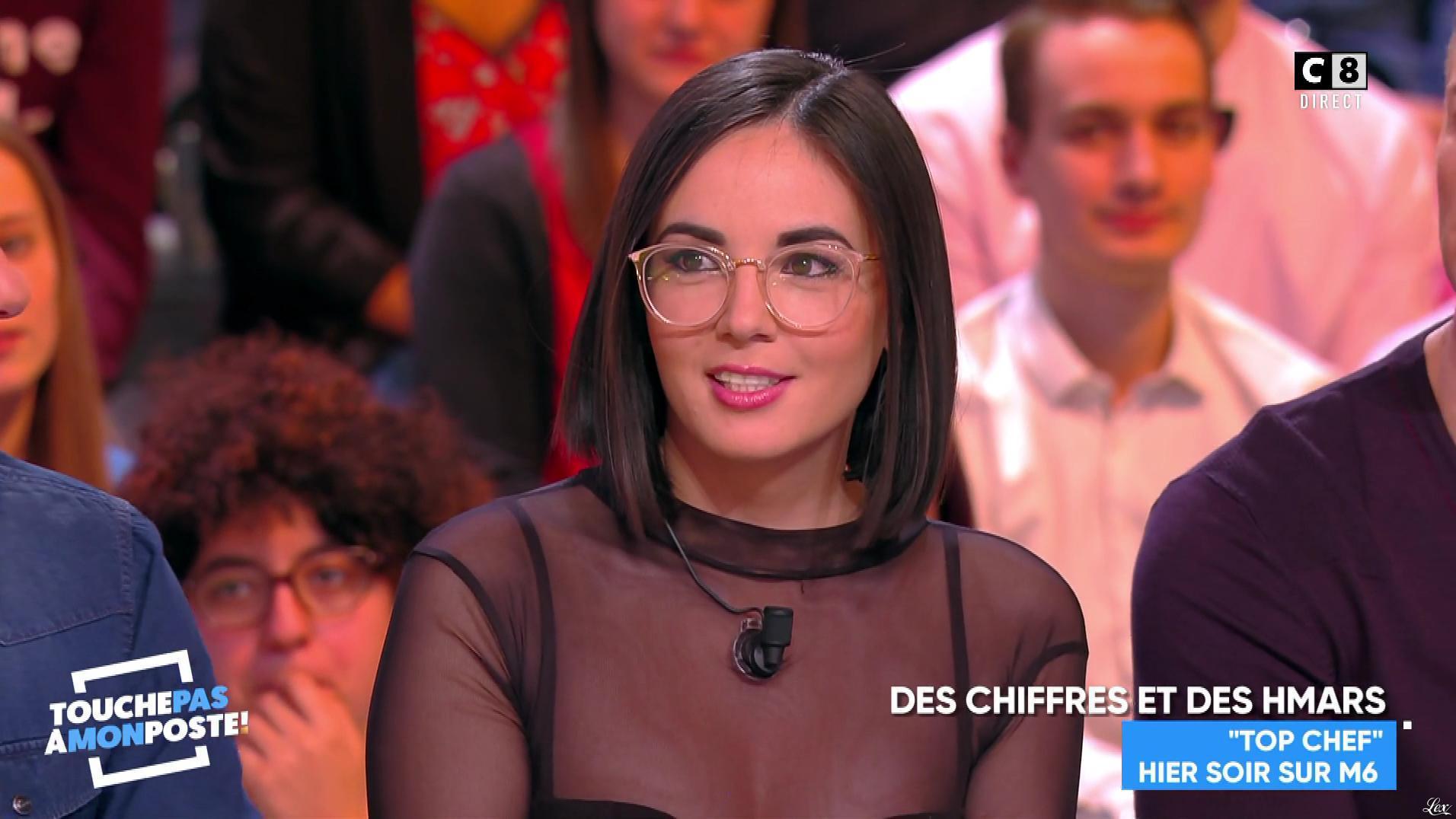 Agathe Auproux dans Touche pas à mon Poste. Diffusé à la télévision le 01/03/18.