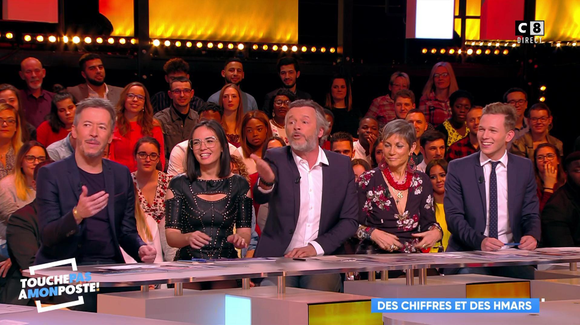 Agathe Auproux dans Touche pas à mon Poste. Diffusé à la télévision le 20/11/17.
