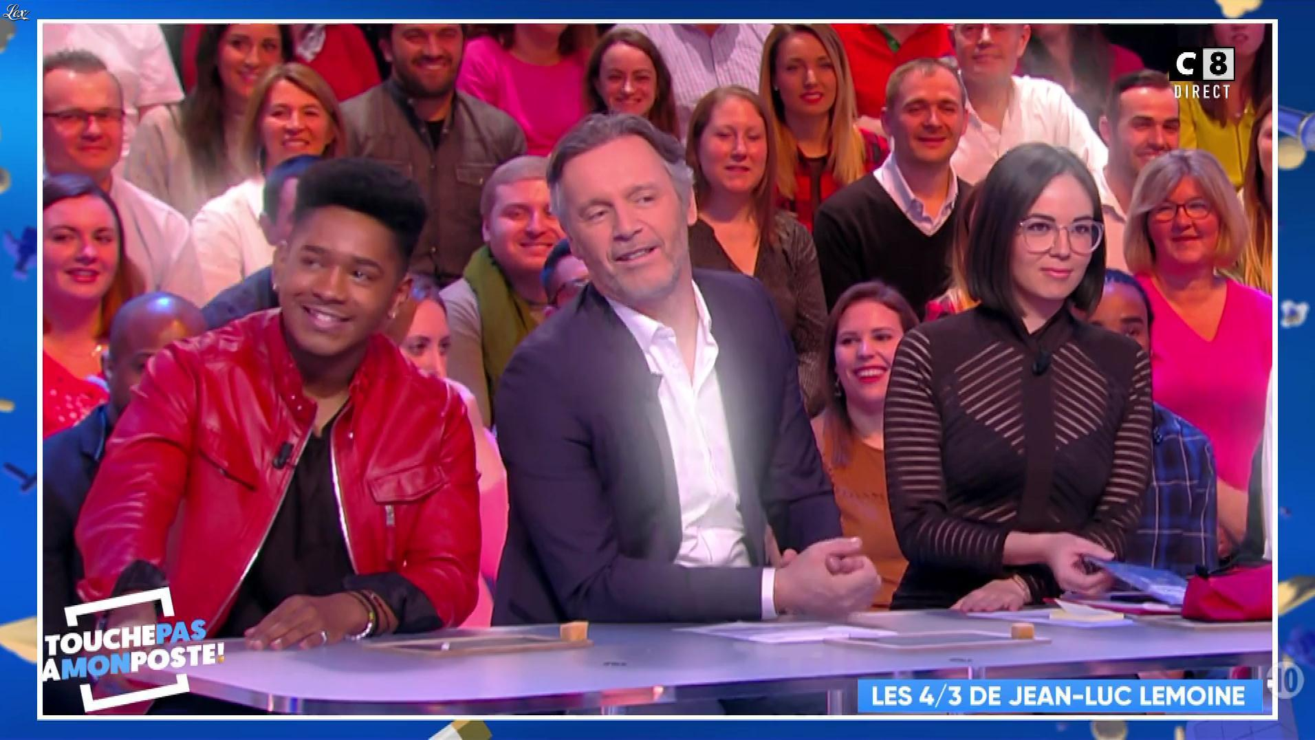 Agathe Auproux dans Touche pas à mon Poste. Diffusé à la télévision le 31/01/18.