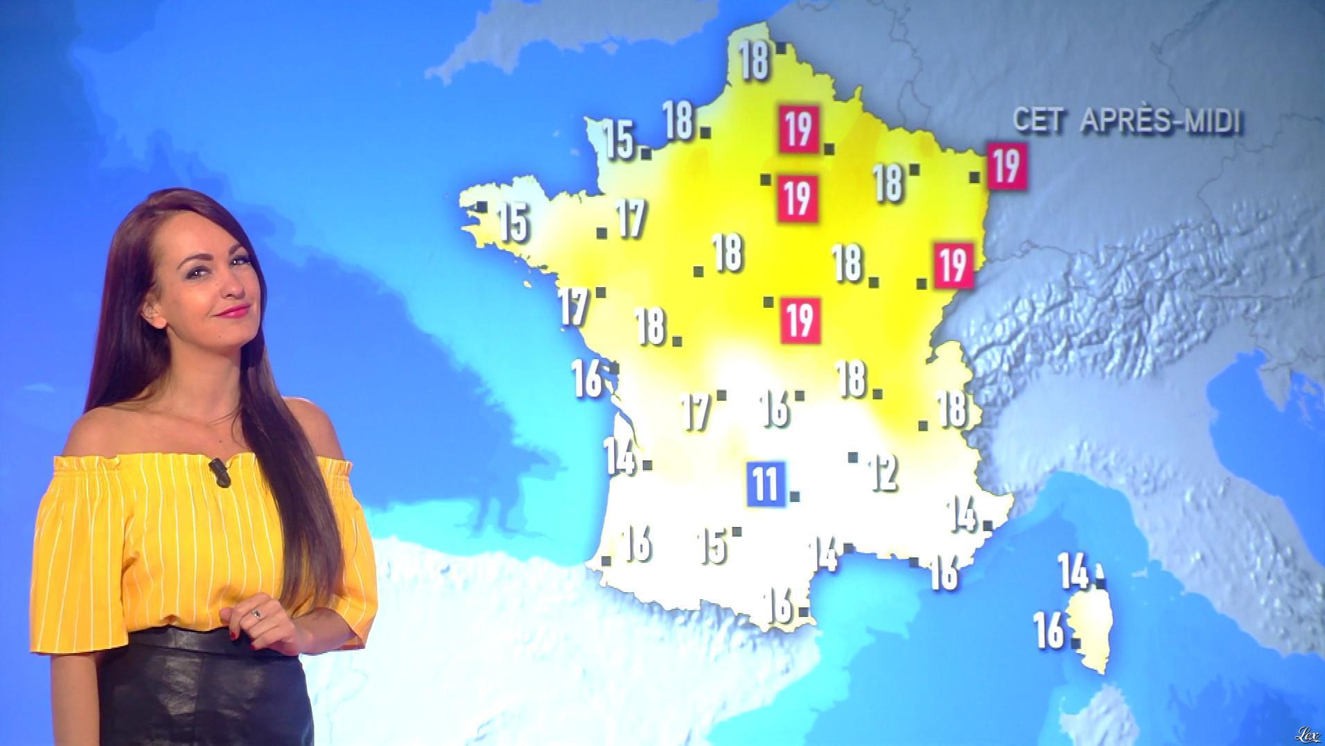 Alexandra Blanc à la Météo du Matin. Diffusé à la télévision le 11/04/18.