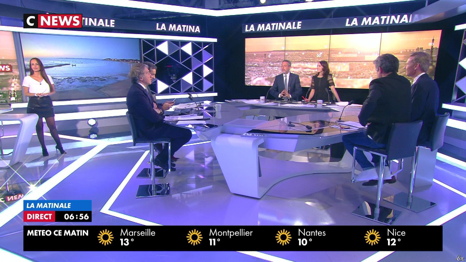 Alexandra Blanc à la Météo du Matin. Diffusé à la télévision le 18/04/18.