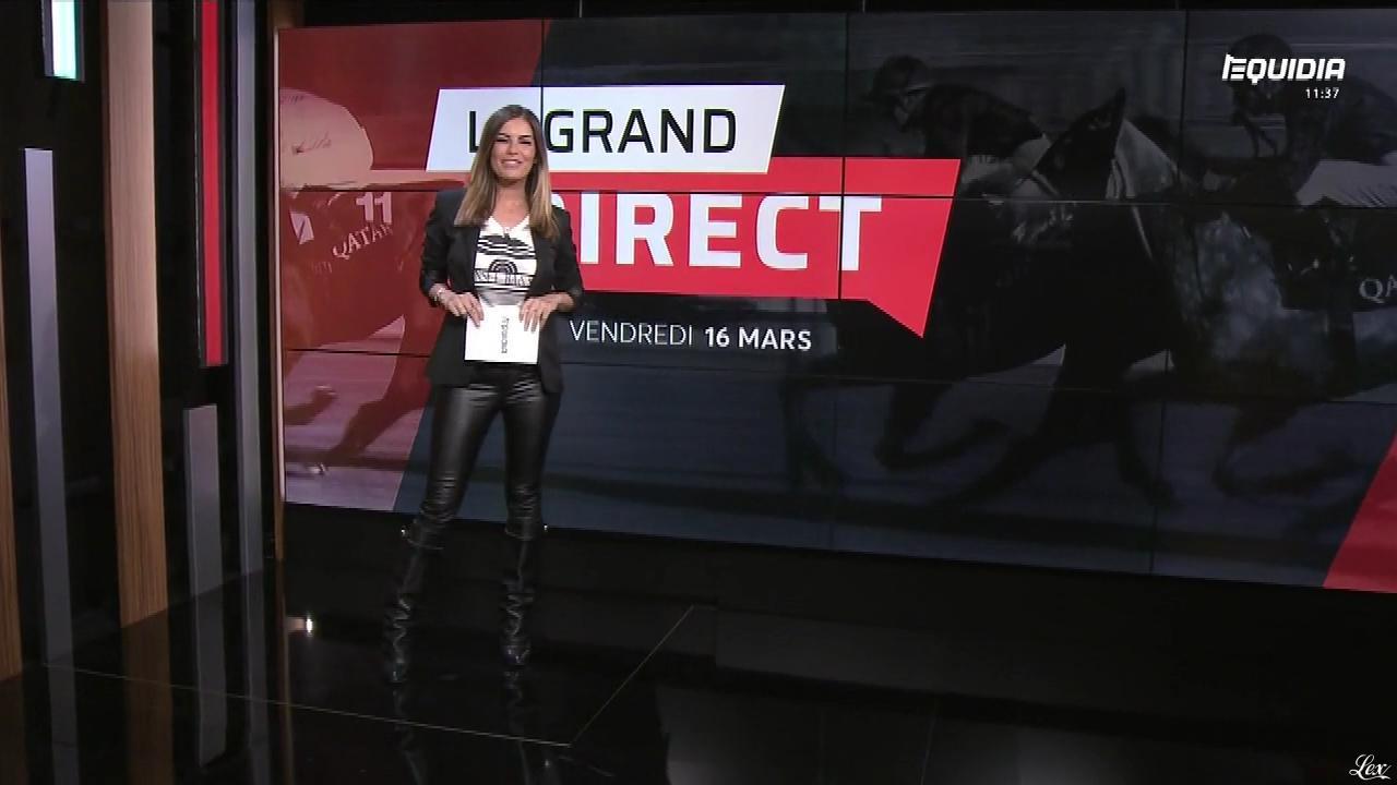 Amélie Bitoun dans le Grand Direct. Diffusé à la télévision le 16/03/18.