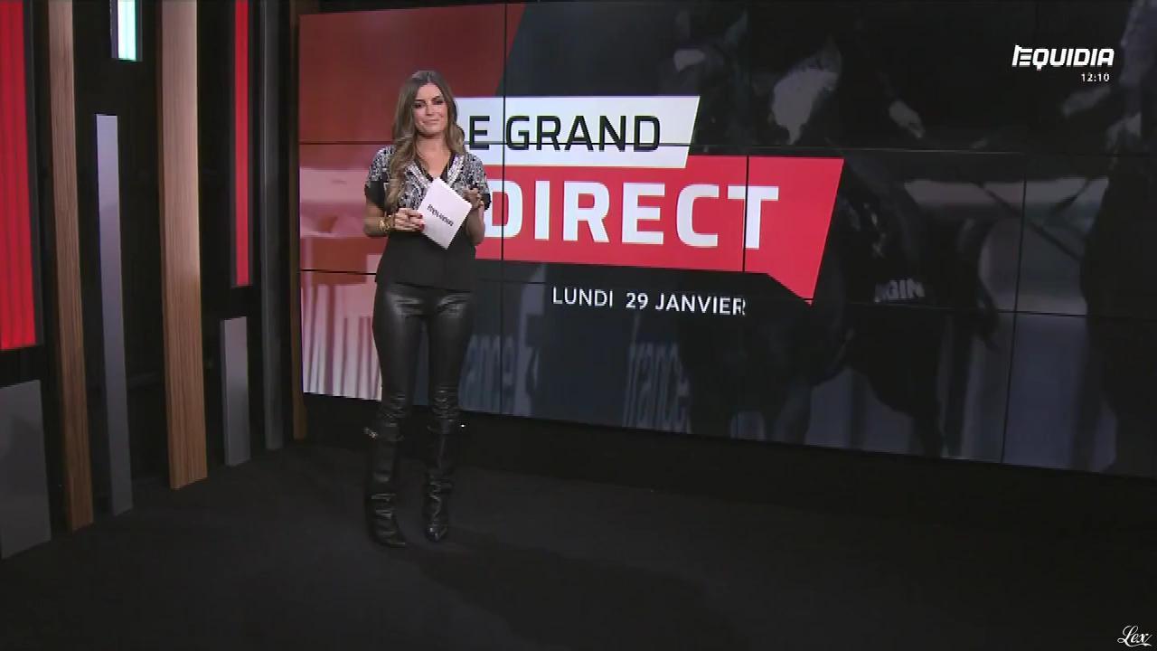Amélie Bitoun dans le Grand Direct. Diffusé à la télévision le 29/01/18.