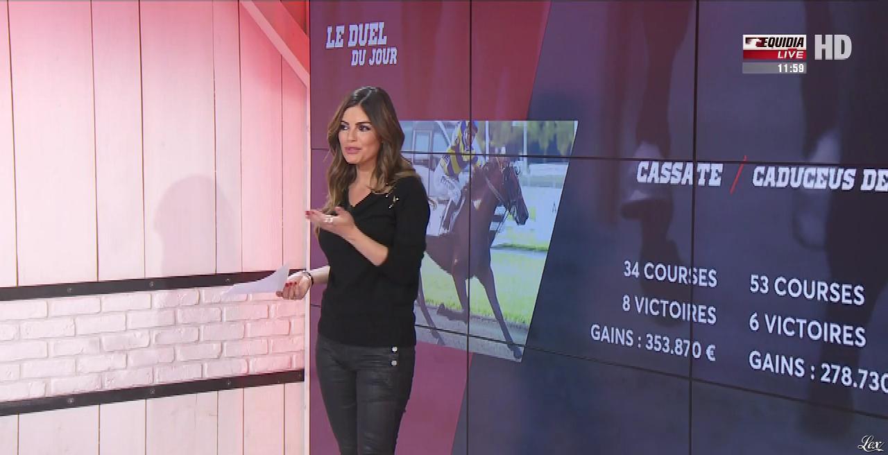 Amélie Bitoun dans un Jour aux Courses. Diffusé à la télévision le 16/11/17.