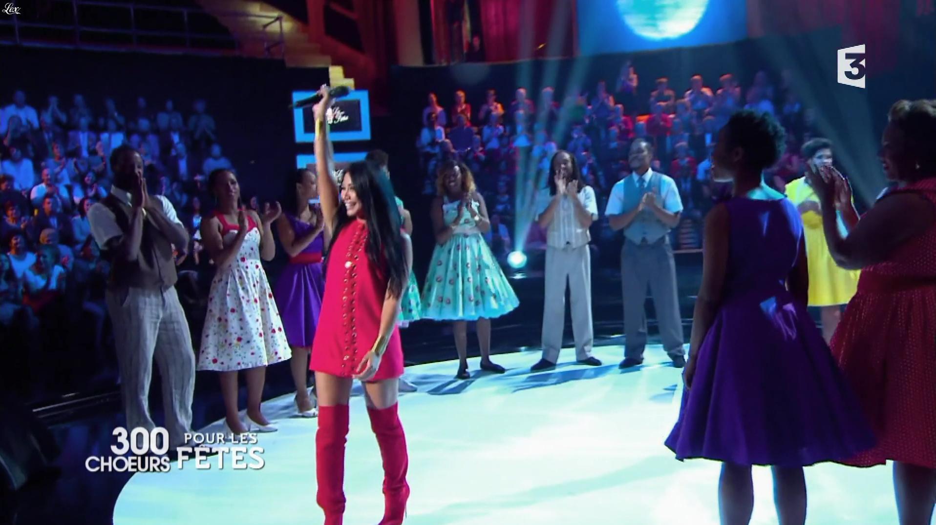 Anggun dans 300 Chœurs pour Plus de Fêtes. Diffusé à la télévision le 27/12/17.
