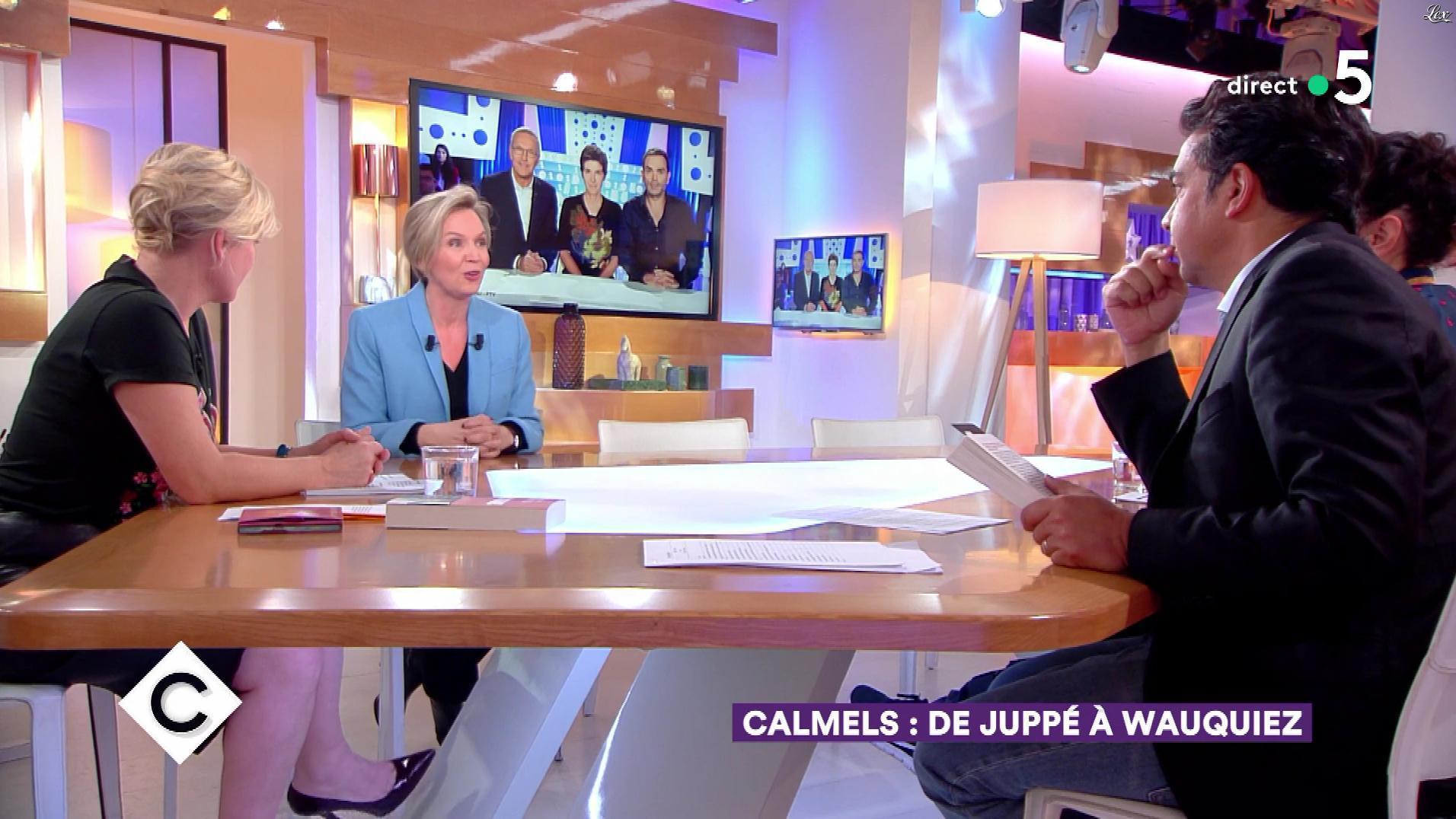 Anne-Elisabeth Lemoine dans C à Vous. Diffusé à la télévision le 12/03/18.