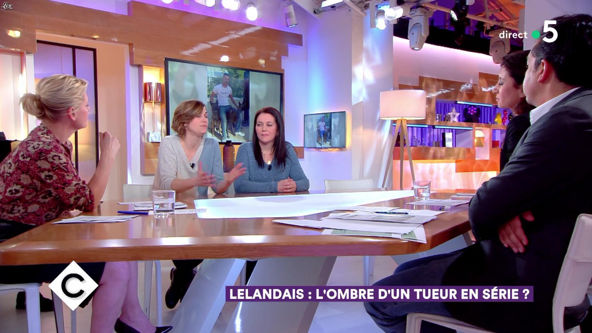 Anne-Elisabeth Lemoine dans C à Vous. Diffusé à la télévision le 22/02/18.