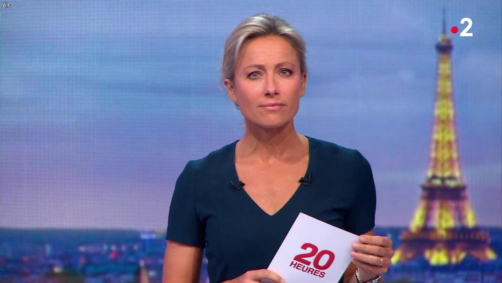 Anne-Sophie Lapix dans le 20h. Diffusé à la télévision le 13/04/18.