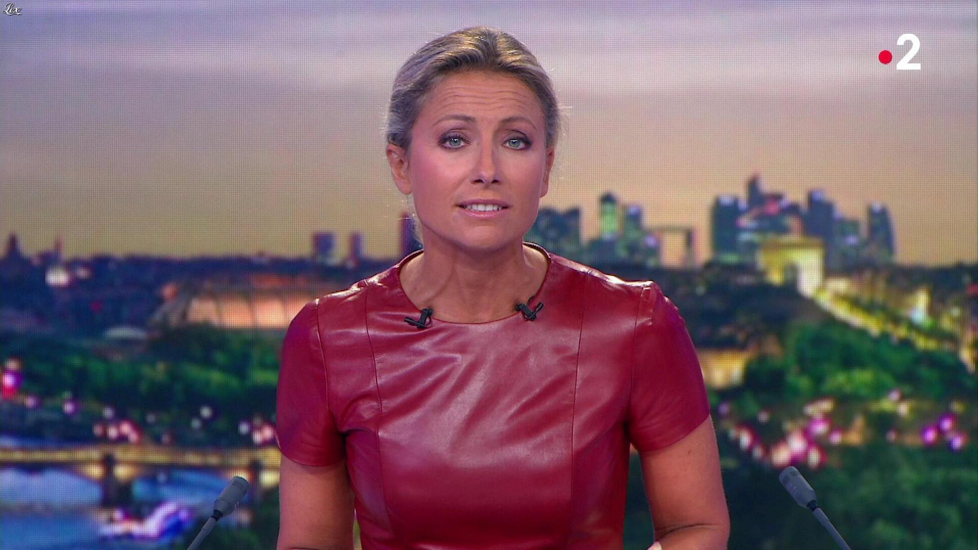 Anne-Sophie Lapix dans le 20h. Diffusé à la télévision le 29/08/18.