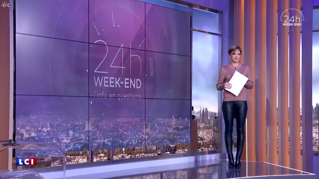 Bénédicte Le Chatelier dans 24h le Week-End. Diffusé à la télévision le 11/11/17.