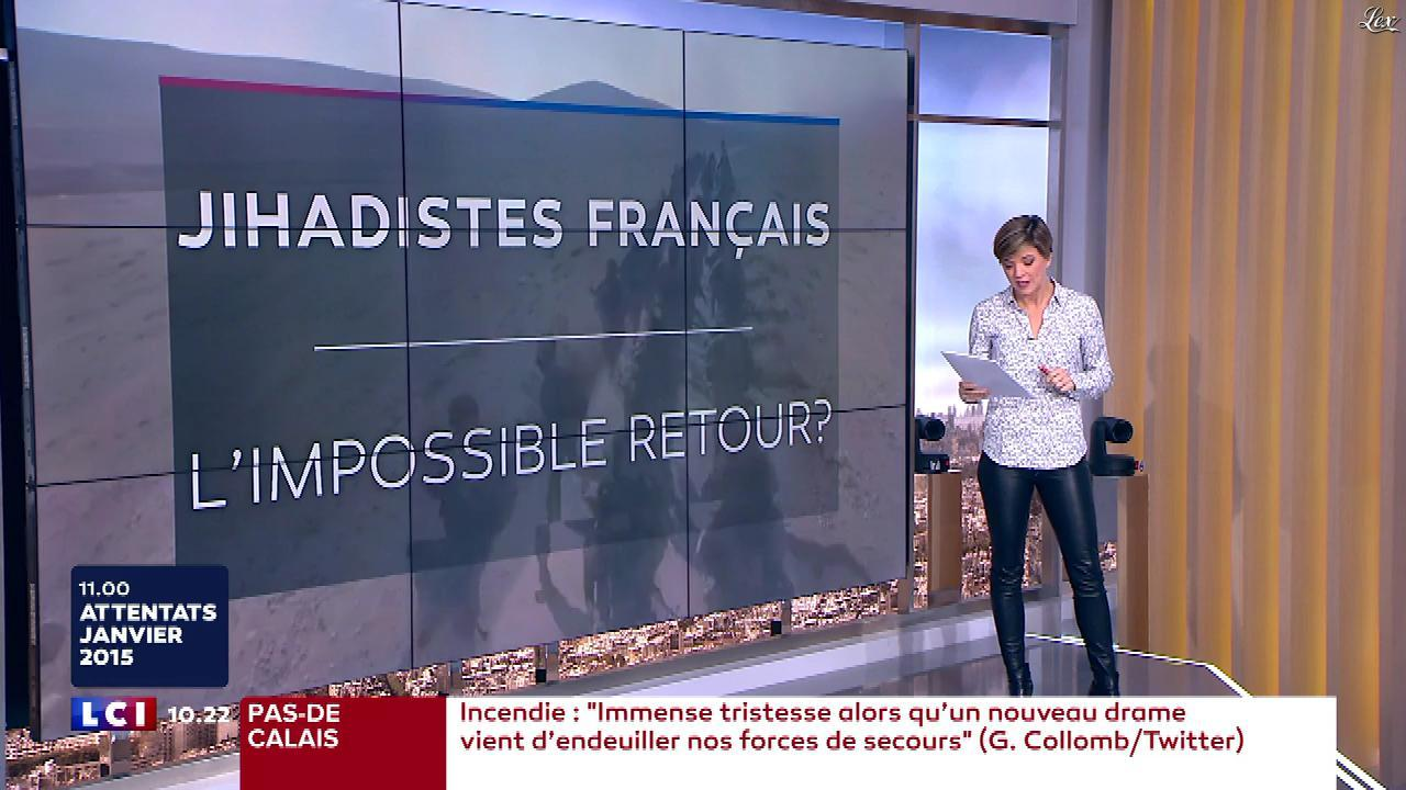 Benedicte Le Chatelier dans le Brunch. Diffusé à la télévision le 07/01/18.