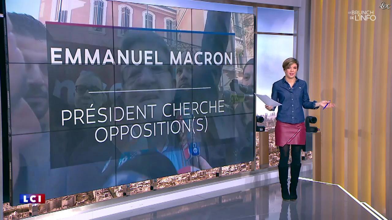 Bénédicte Le Chatelier dans le Brunch. Diffusé à la télévision le 27/01/18.