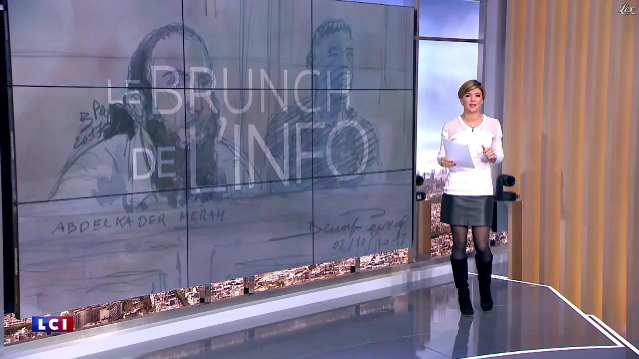 Bénédicte Le Chatelier dans le Brunch de l'Info. Diffusé à la télévision le 04/11/17.