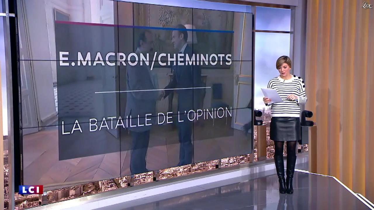 Benedicte Le Chatelier dans le Brunch de l'Info. Diffusé à la télévision le 17/03/18.