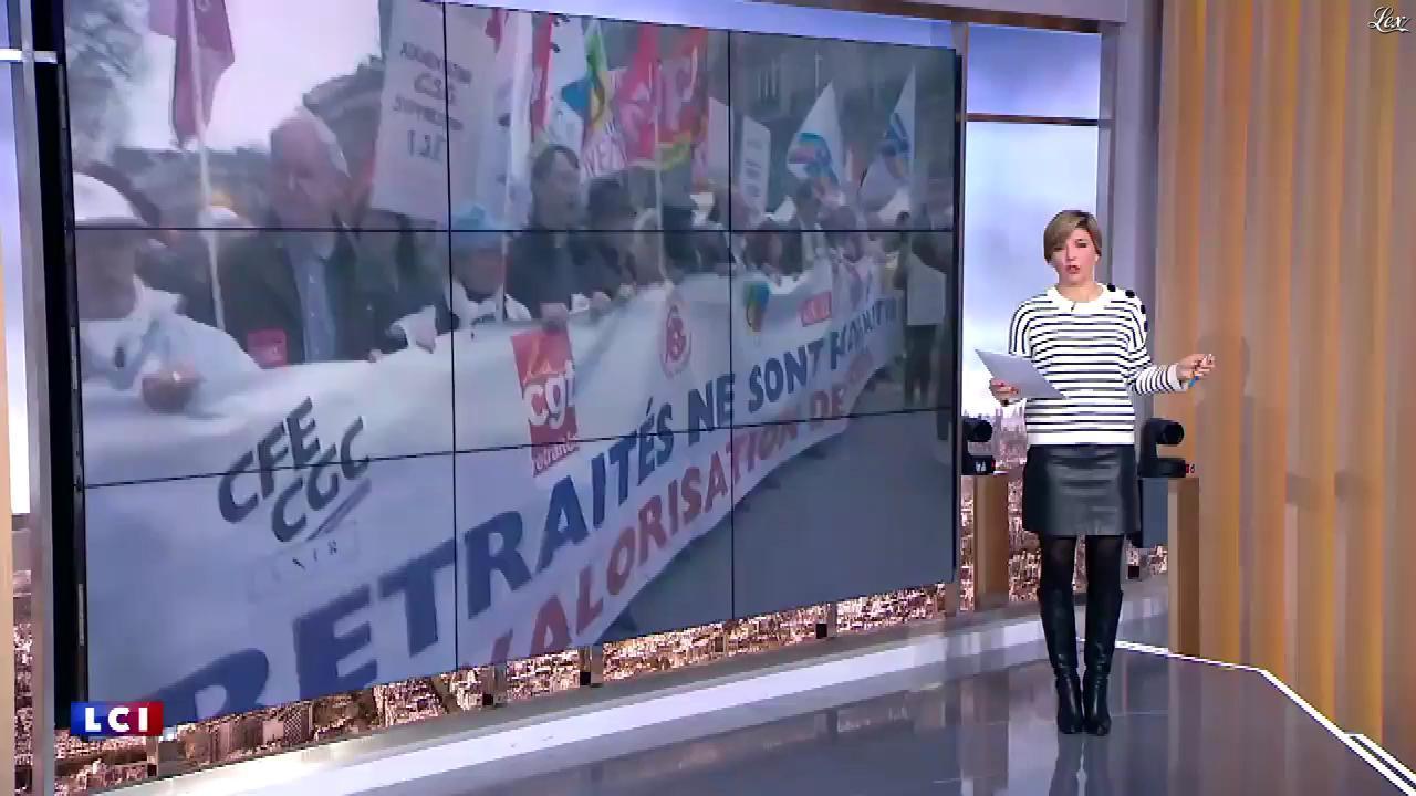 Bénédicte Le Chatelier dans le Brunch de l'Info. Diffusé à la télévision le 17/03/18.