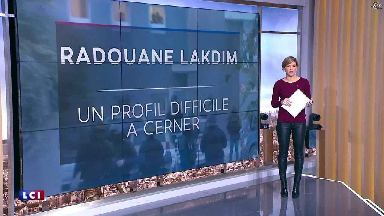 Benedicte Le Chatelier dans le Brunch de l'Info. Diffusé à la télévision le 25/03/18.