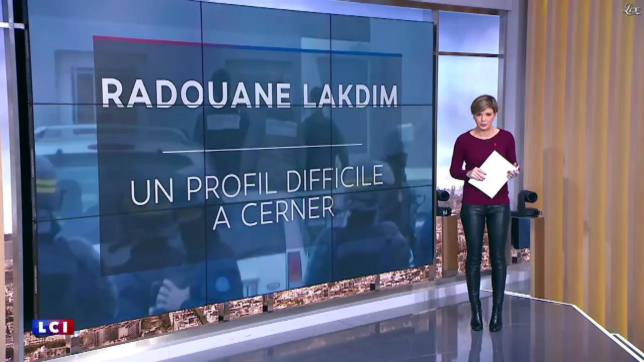 Bénédicte Le Chatelier dans le Brunch de l'Info. Diffusé à la télévision le 25/03/18.