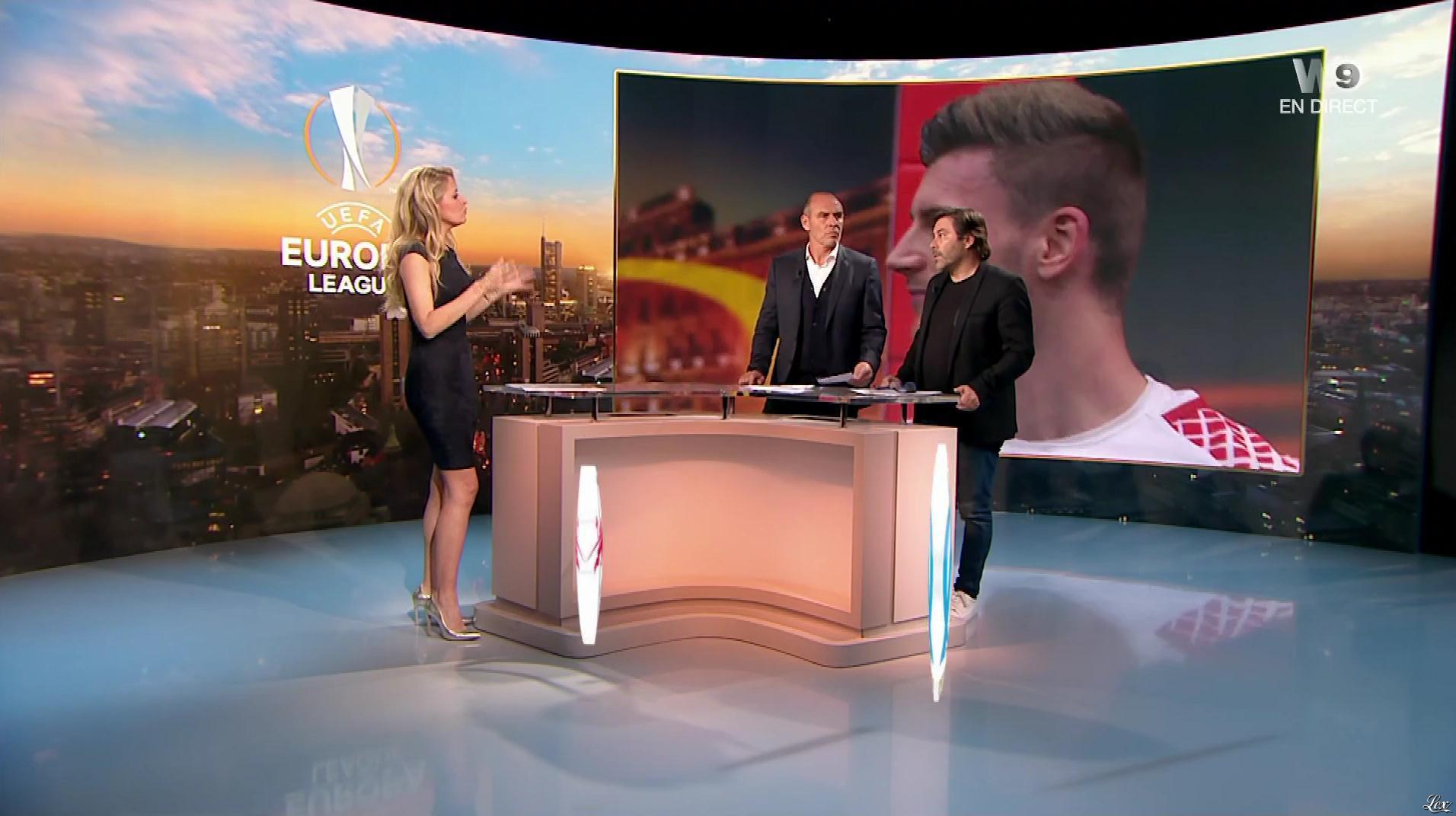 Carine Galli lors de la Soirée de l'Europa League. Diffusé à la télévision le 05/04/18.