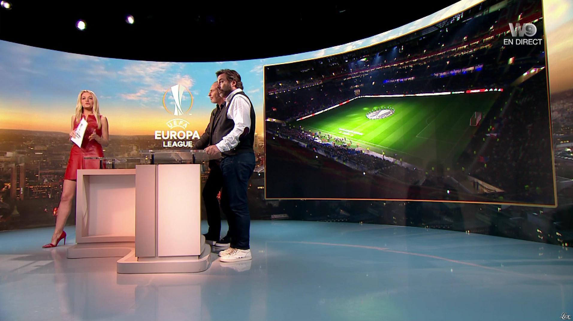 Carine Galli lors de la Soiréee de l'Europa League. Diffusé à la télévision le 15/03/18.