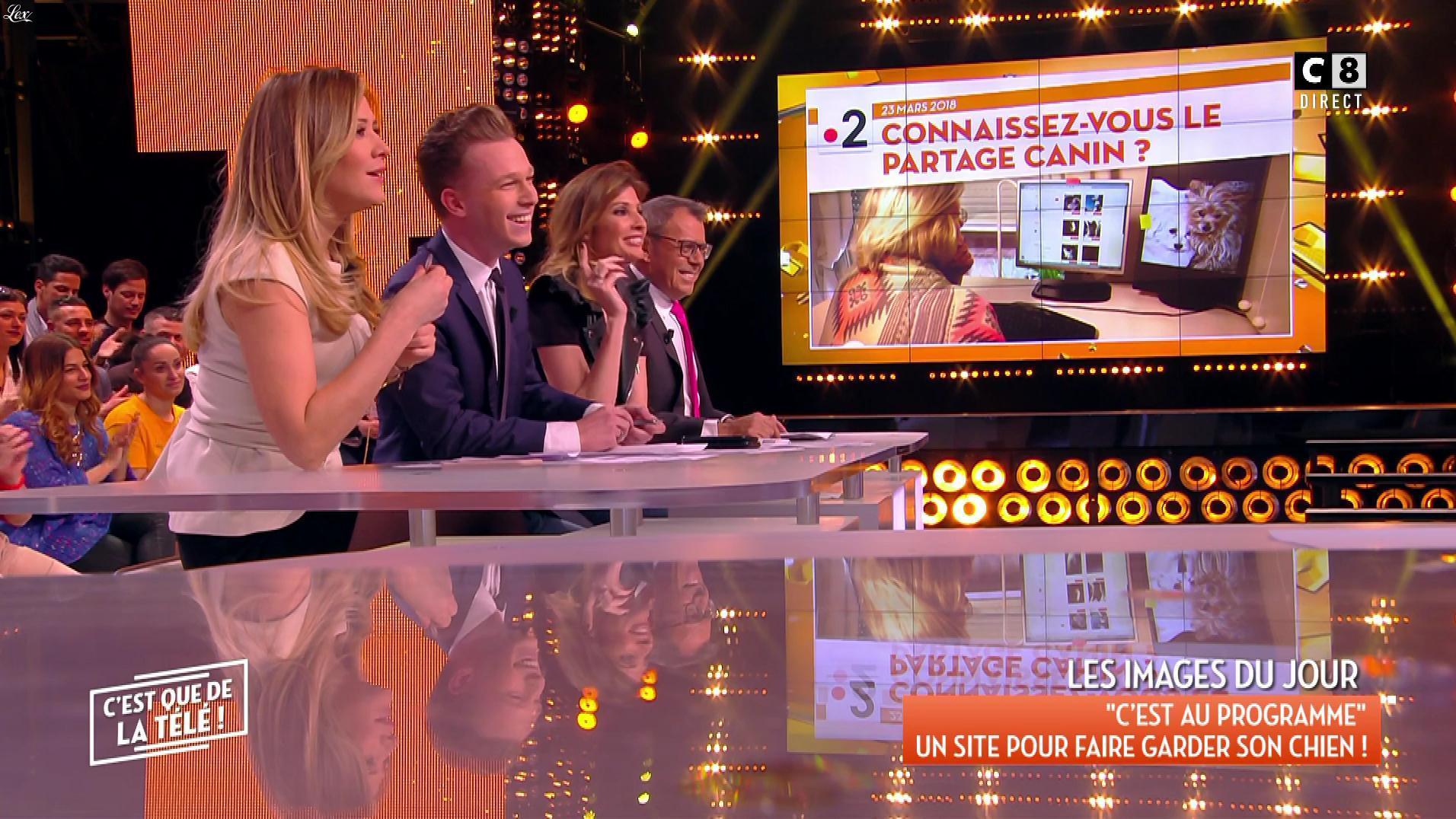 Caroline Ithurbide et Stéphanie Loire dans c'est Que de la Télé. Diffusé à la télévision le 26/03/18.