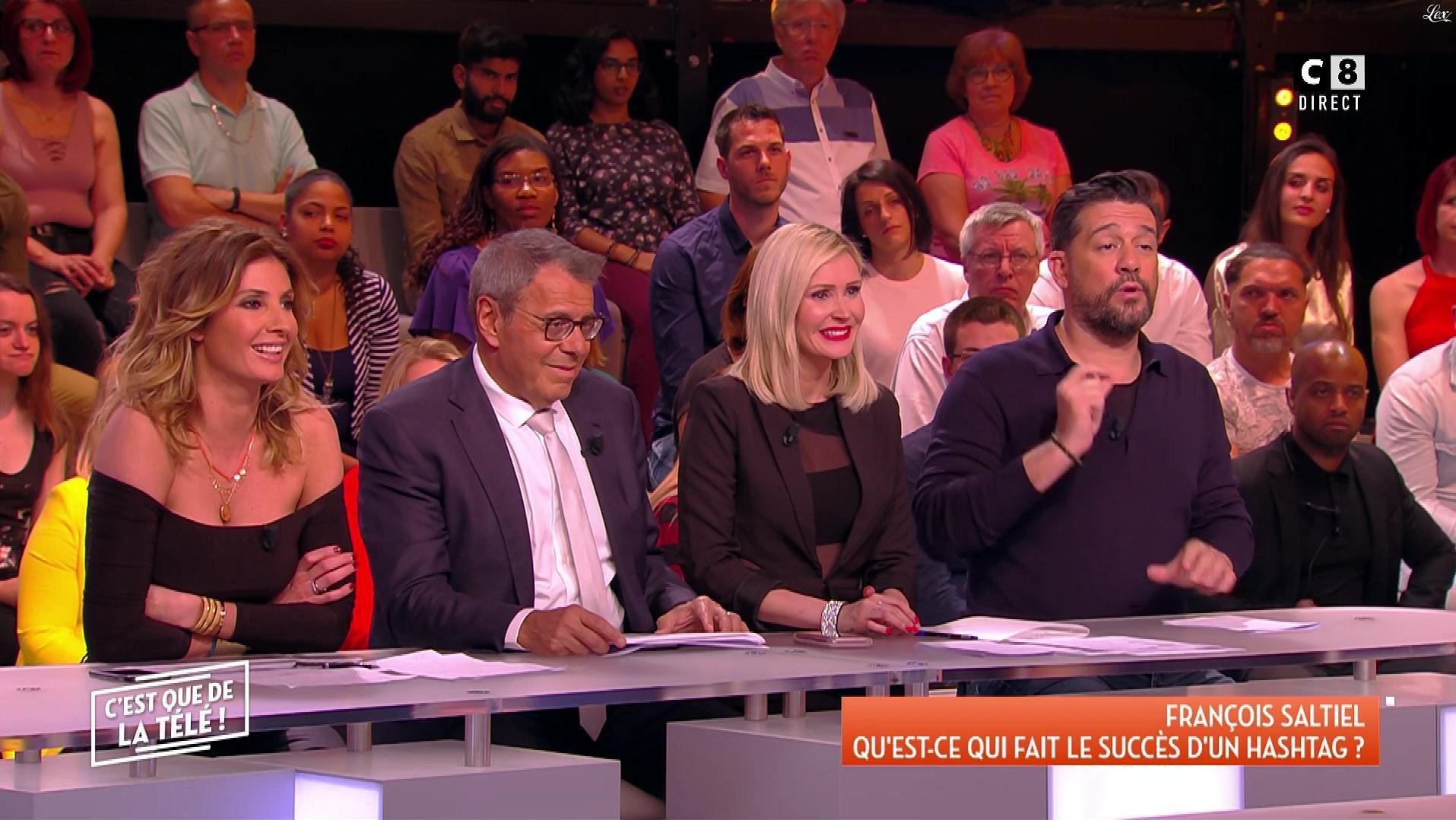 Caroline Ithurbide et Tatiana Laurens Delarue dans c'est Que de la Télé. Diffusé à la télévision le 04/05/18.