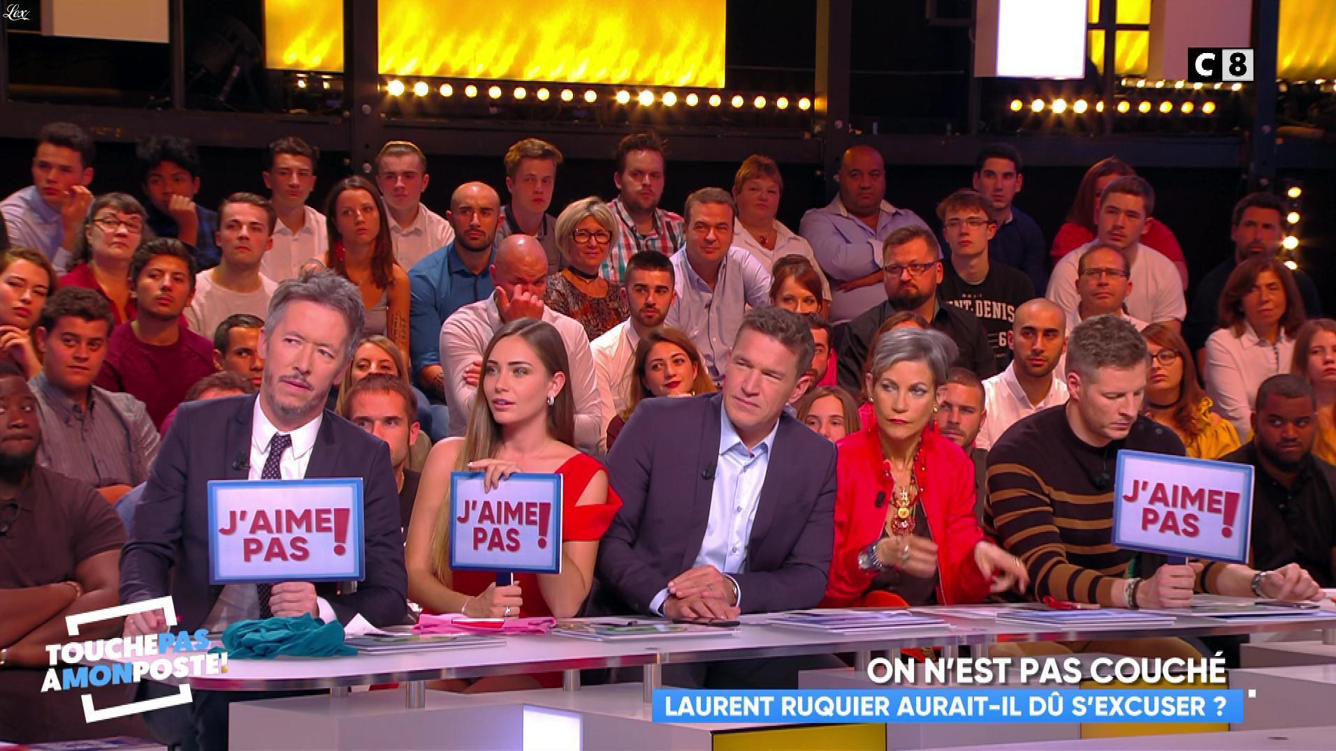 Charlotte Pirroni dans Touche pas à mon Poste. Diffusé à la télévision le 09/10/17.