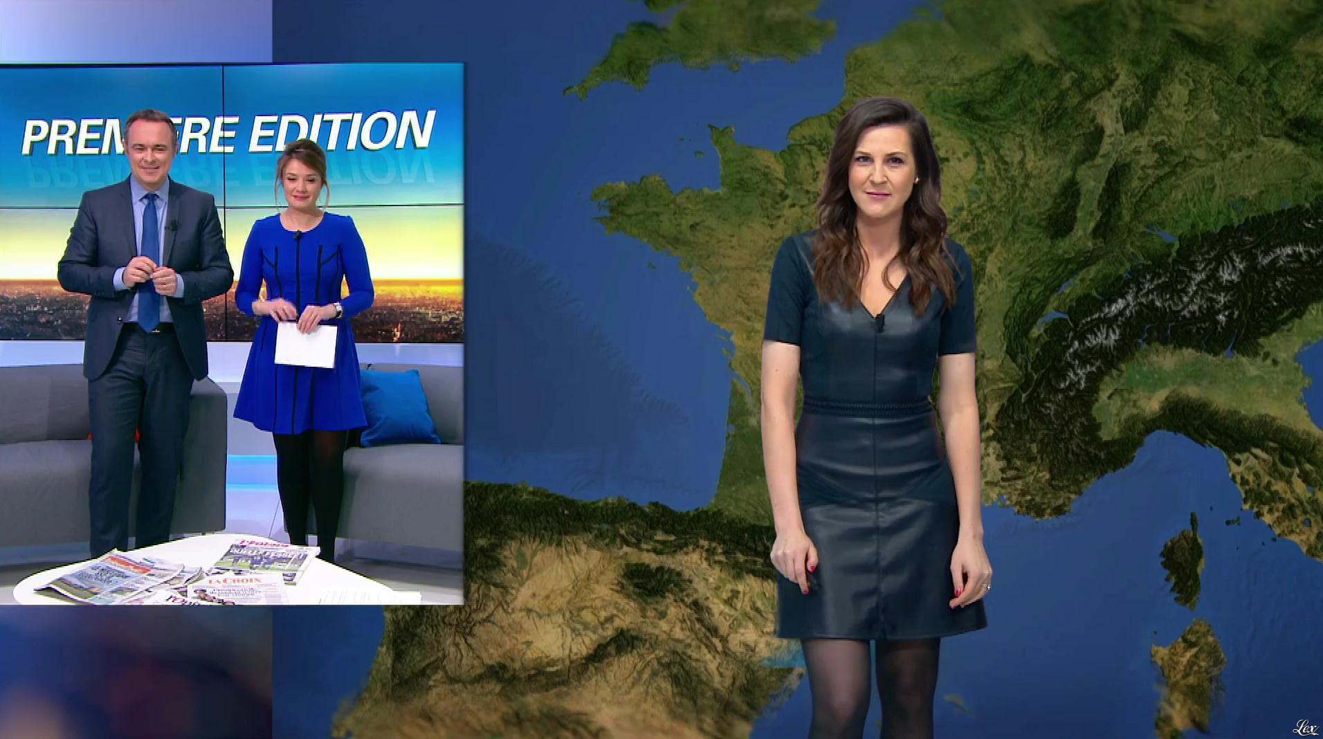 Daniela Prepeliuc à la Météo de BFM TV. Diffusé à la télévision le 27/02/17.