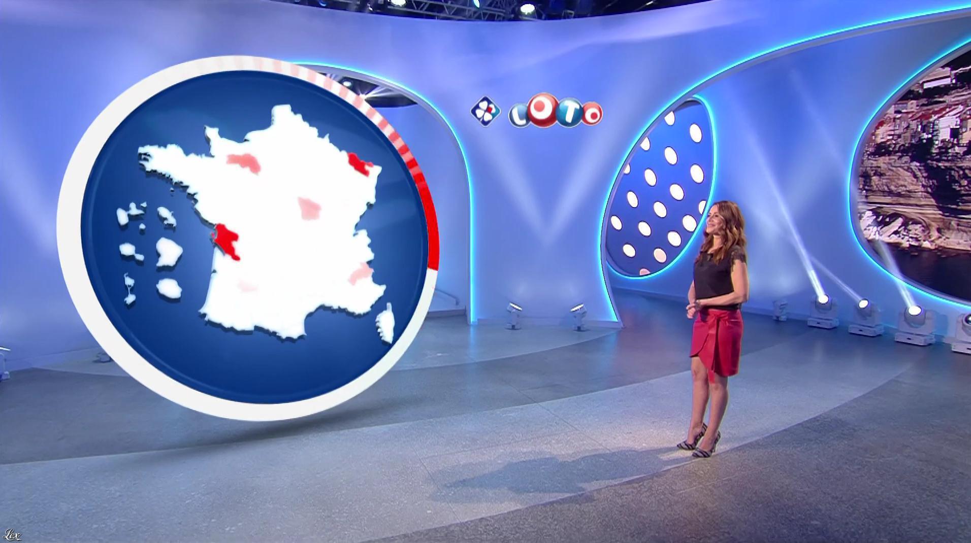 Elsa Fayer lors du Tirage du Loto. Diffusé à la télévision le 02/04/18.