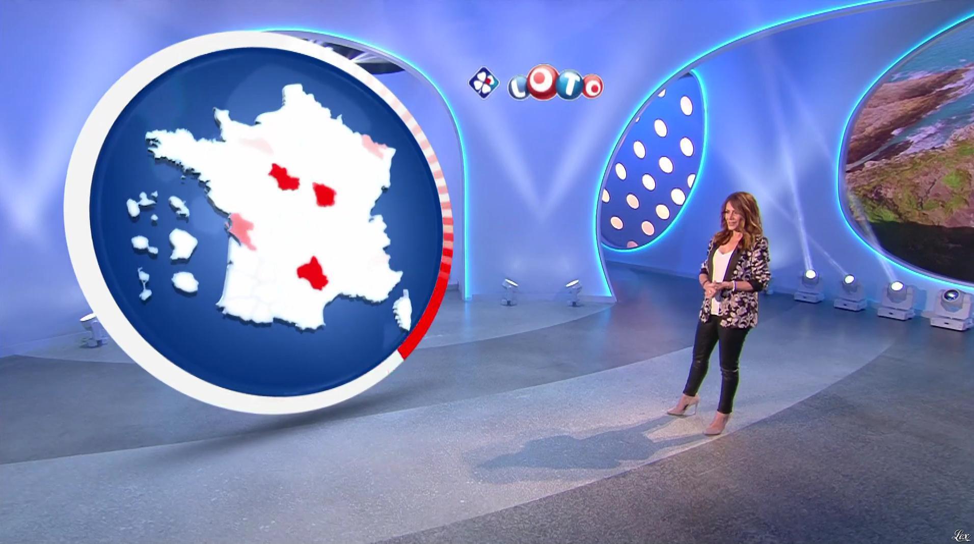 Elsa Fayer lors du Tirage du Loto. Diffusé à la télévision le 13/06/18.